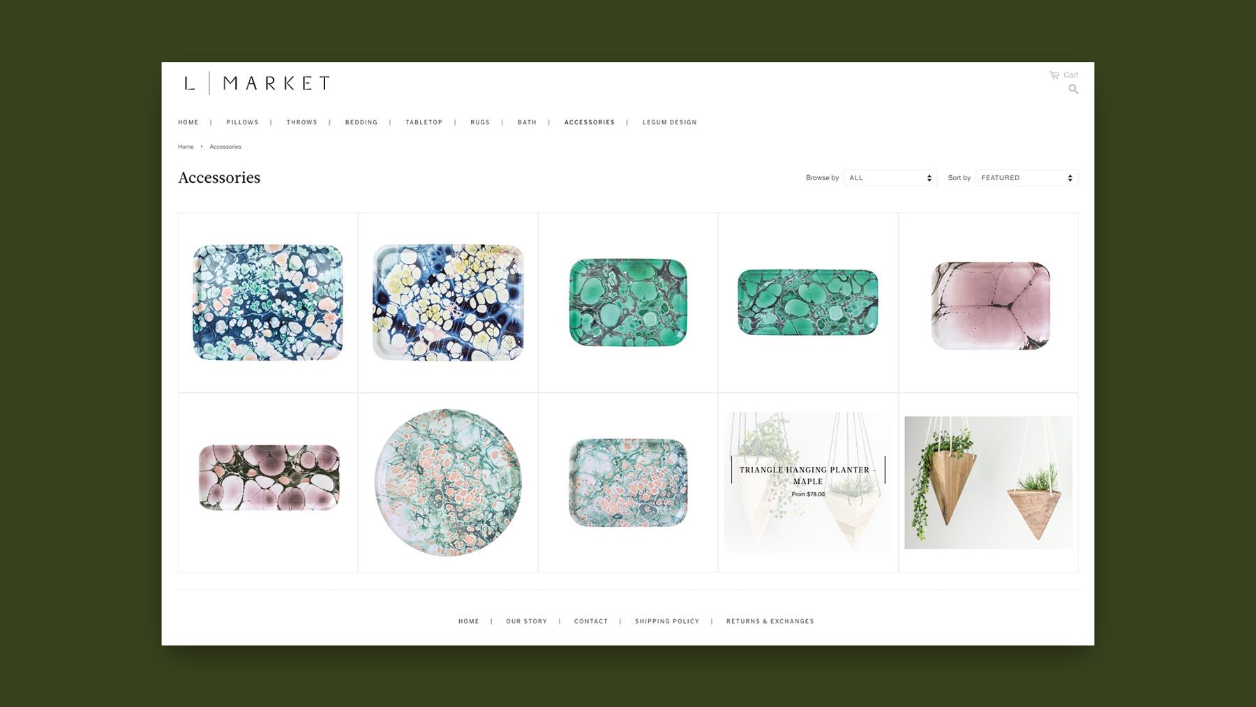 L Market, Shopify website customization