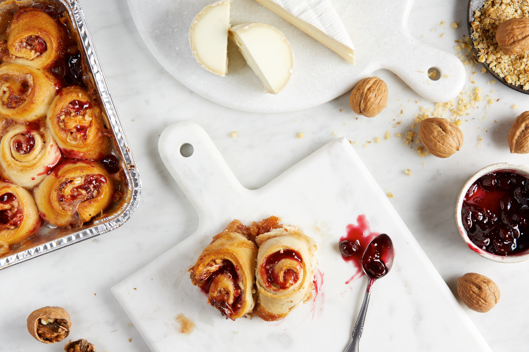 Baked Brie + Jam Rolls / Reynolds Kitchen