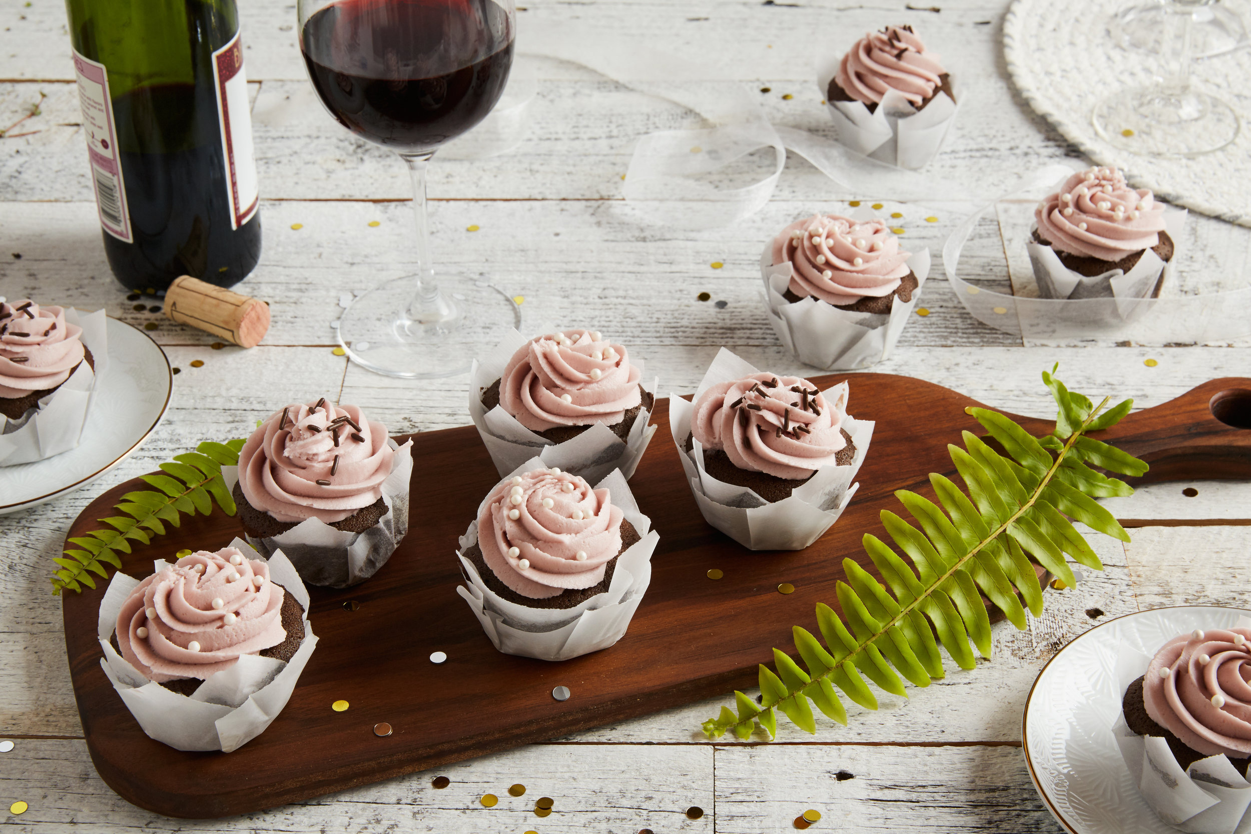 Red Wine Cupcakes / Reynolds Kitchens