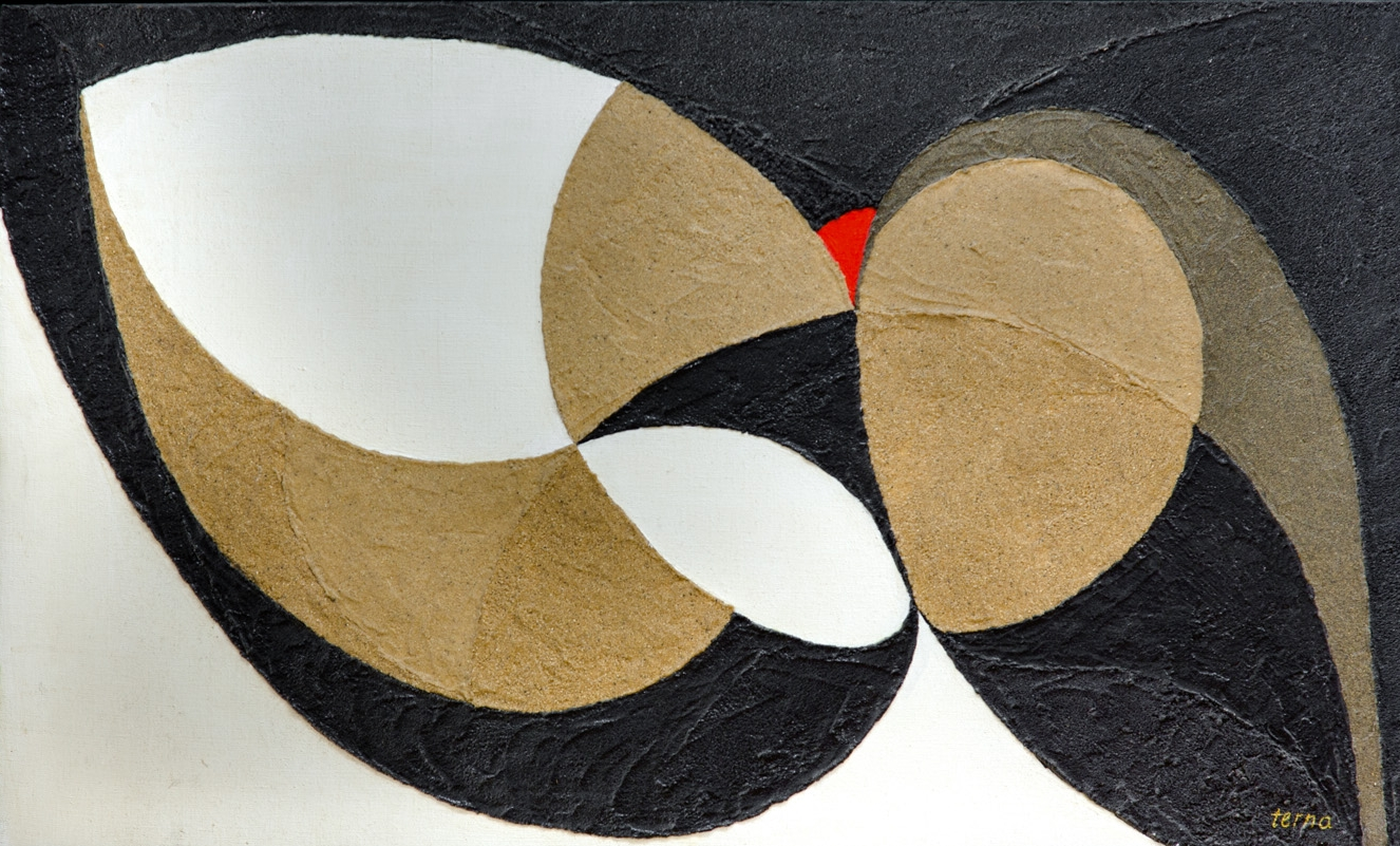Scope for Augmentation , March 1969, Aggregates and acrylic on canvas, 24 x 40 inches