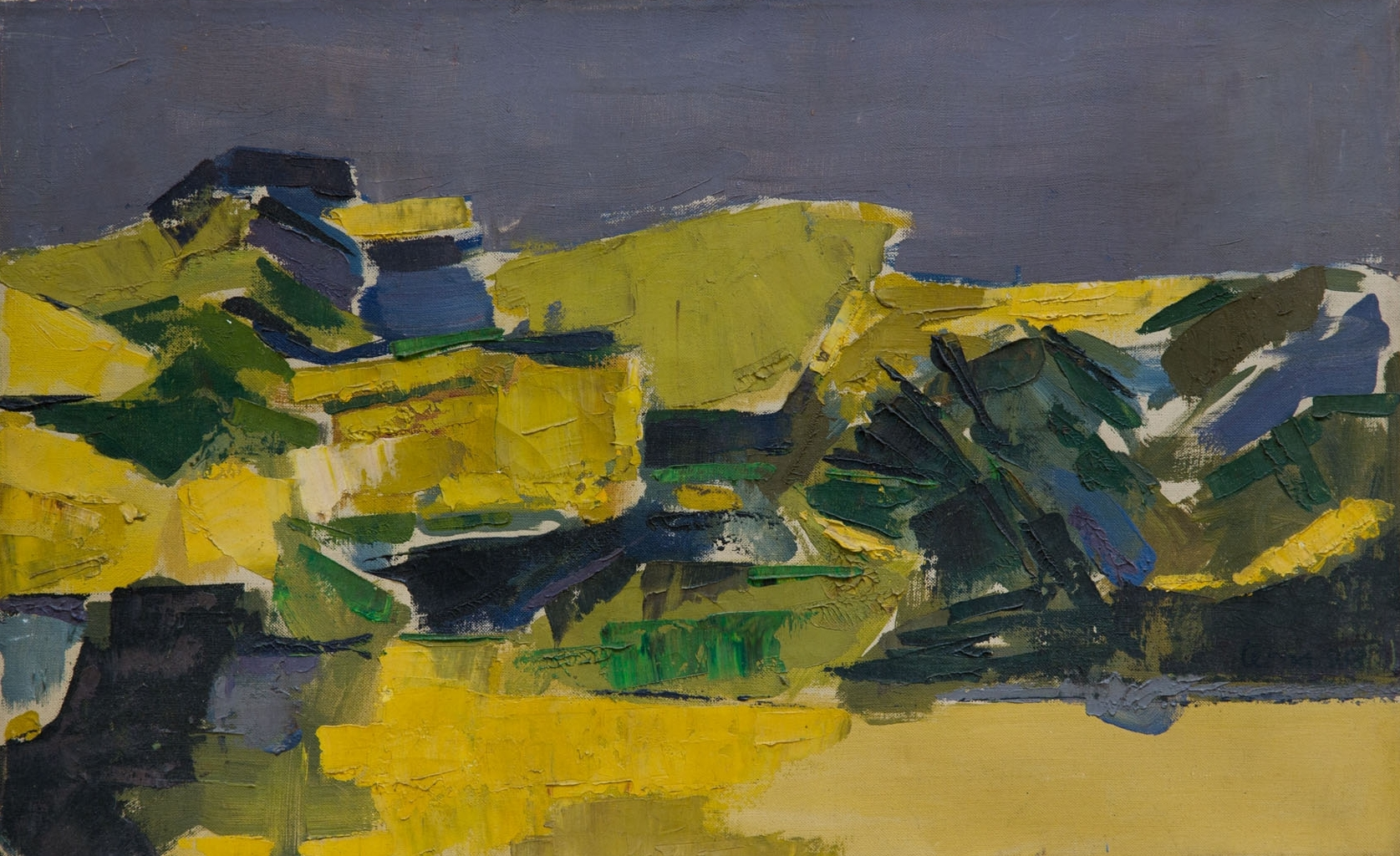 Untitled, 1968, Oil on canvas, 15 x 24 in