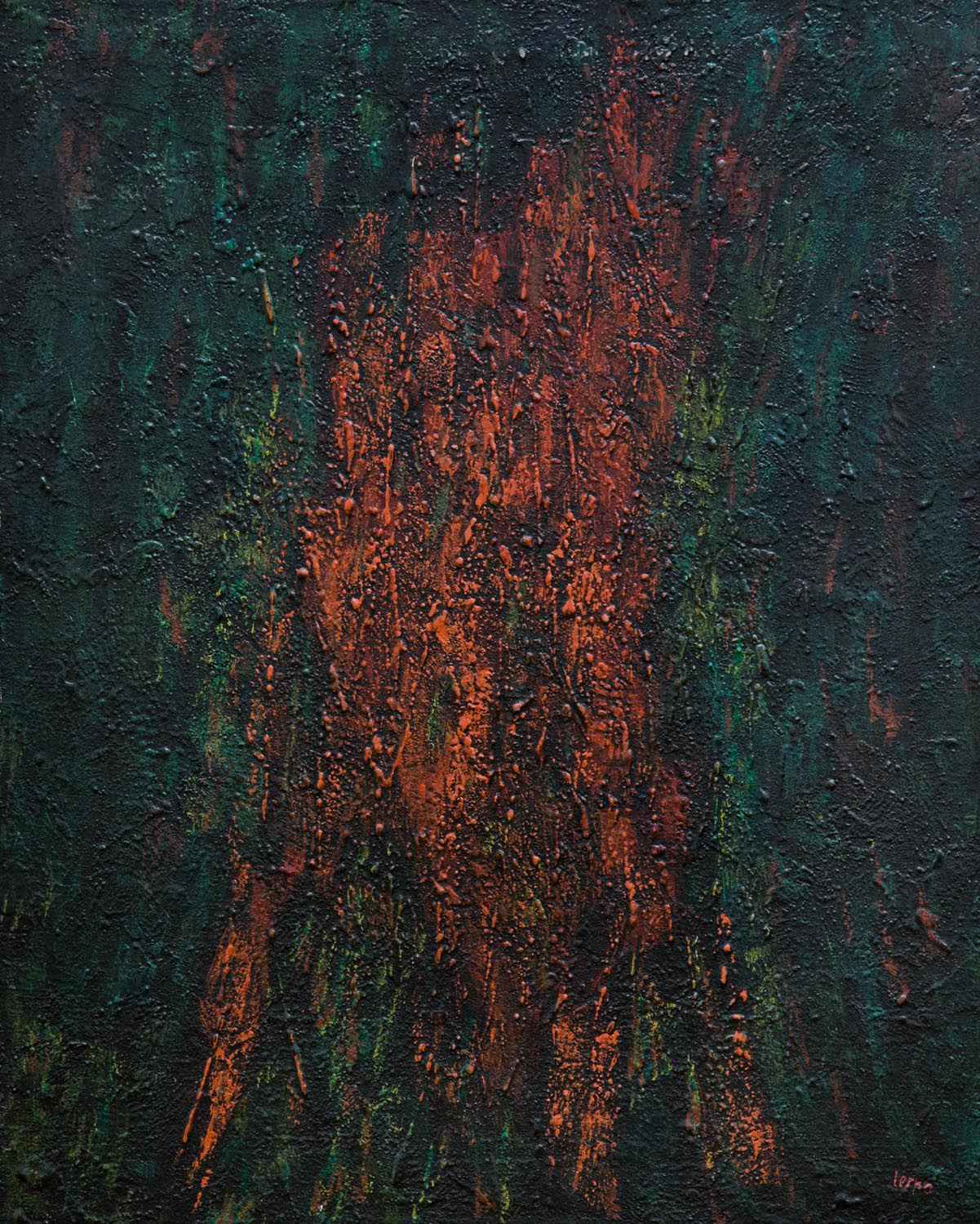 Traces , 2006, Acrylic on canvas, 30 x 24 in