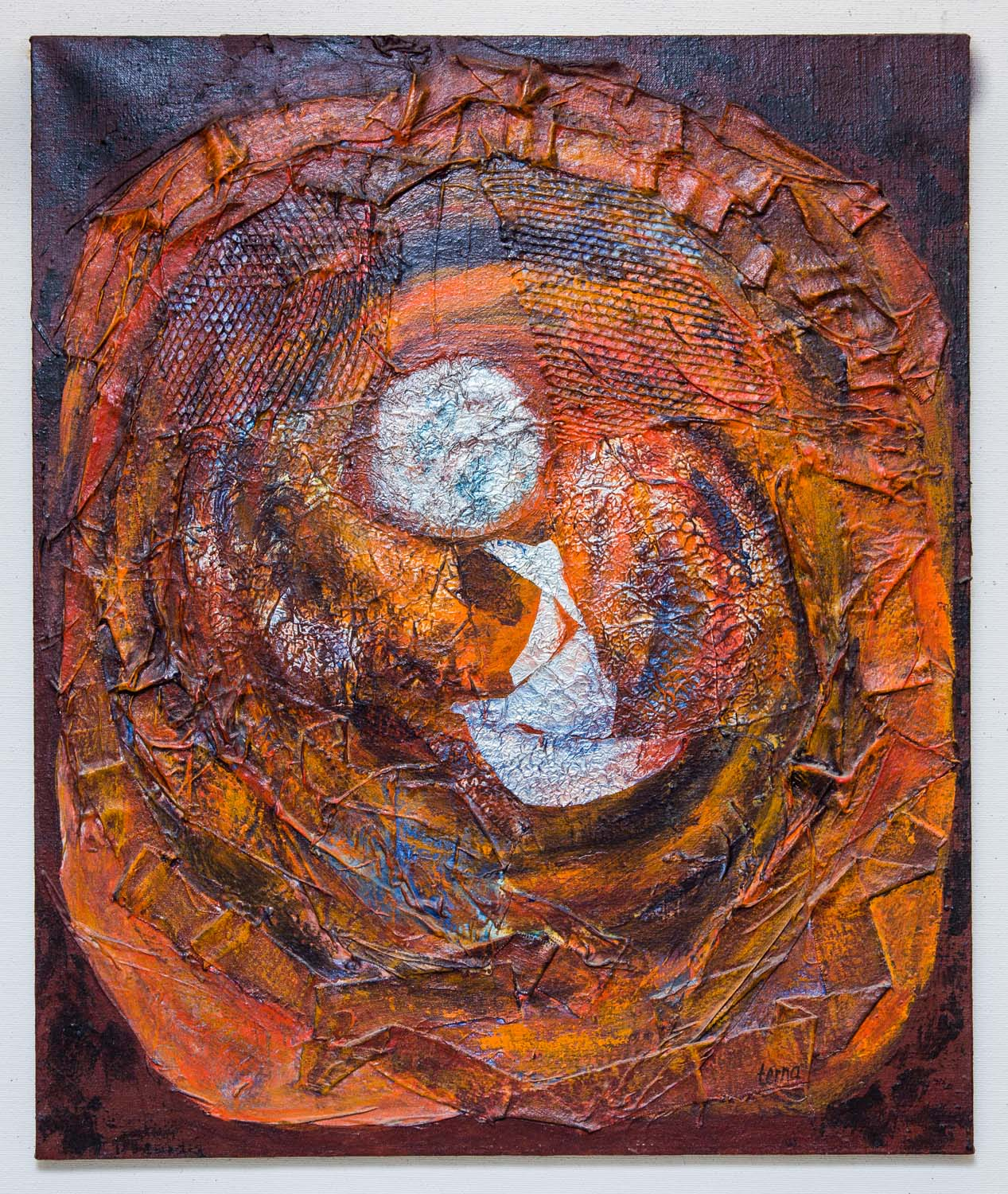 Implosion , 1968, Acrylic on canvas, 36 x 30 in