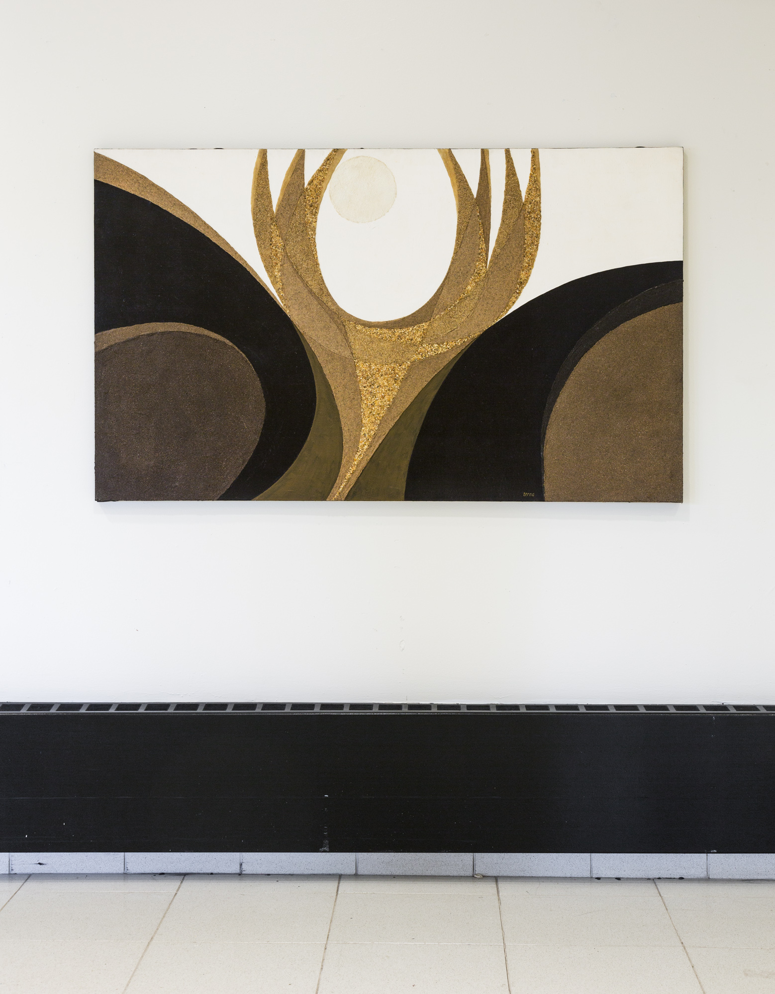 Fred Terna, Afterwards, Emergence , 1977, Acrylic and aggregates on canvas, 36 x 60 inches