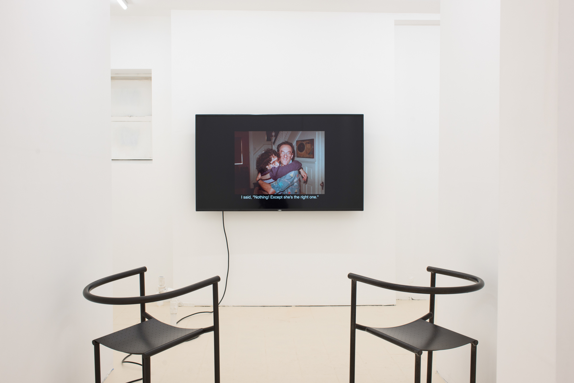 Place/Image/Object , Daniel Terna,  My First Wife Stella , 2013, HD Video, Sound, 33:07, Exhibition View, Courtesy Jack Barrett, New York, 2019