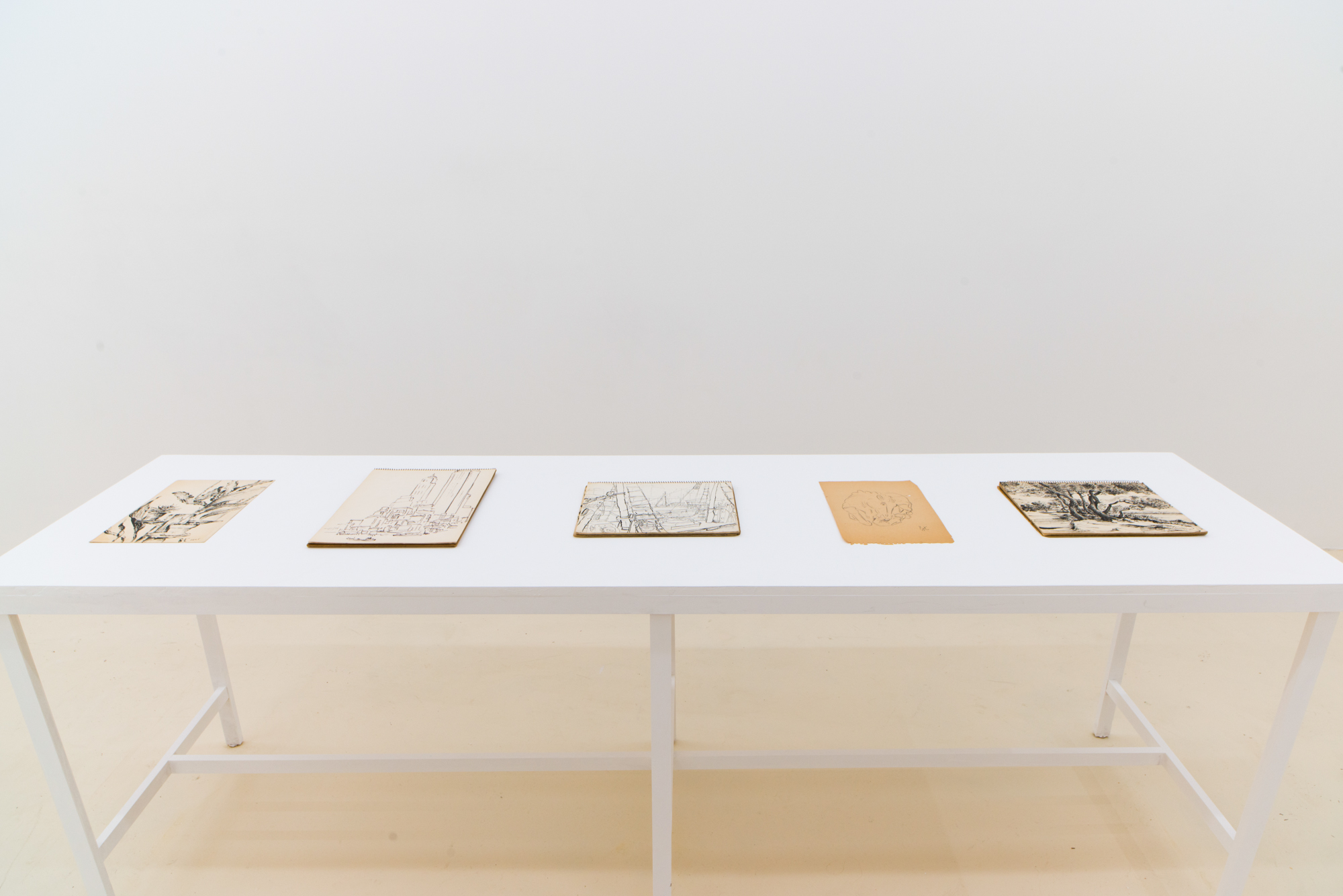 Place/Image/Object , Fred Terna, Untitled Notebooks, c. 1945-1952, Ink on Paper, Courtesy Jack Barrett, New York, 2019