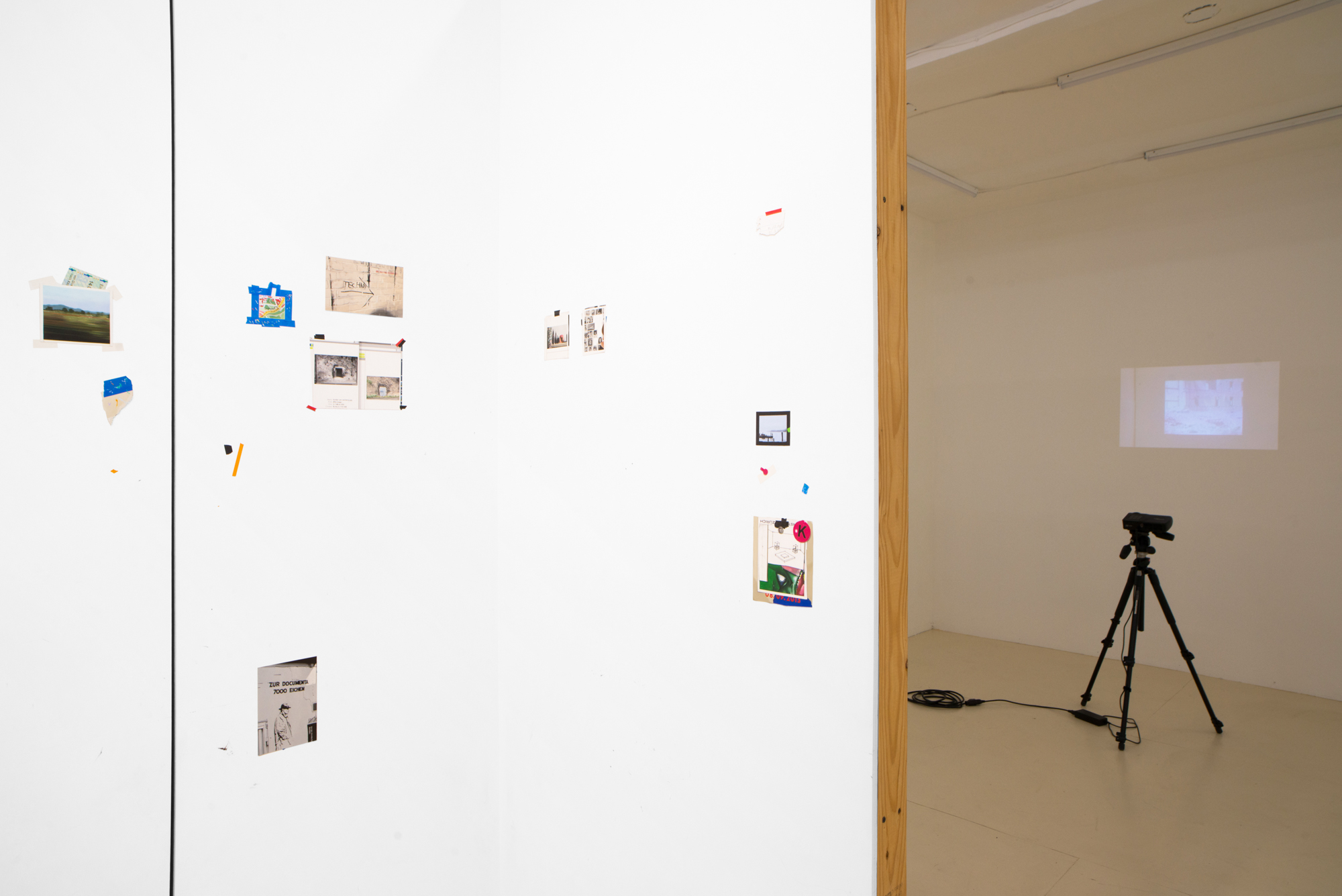 Place/Image/Object , Anna Plesset,  Travelogue (21st Century Room),  2013-2018, Oil on Panel, Exhibition View, Courtesy Jack Barrett, New York, 2019