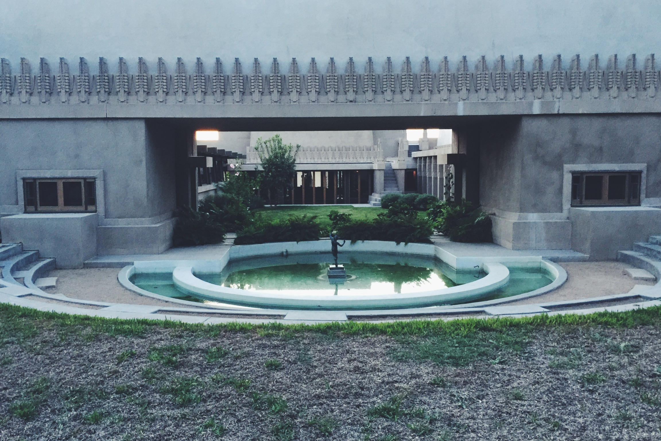 Reflecting pool & inner courtyard