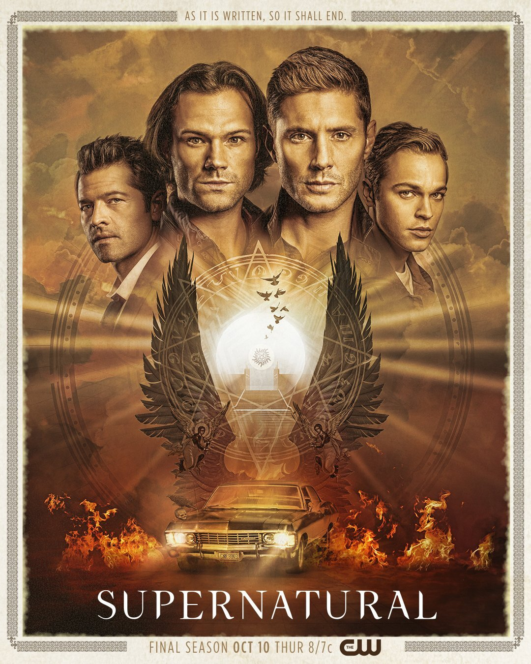 Supernatural… The final season, begins Oct.10 on The CW…