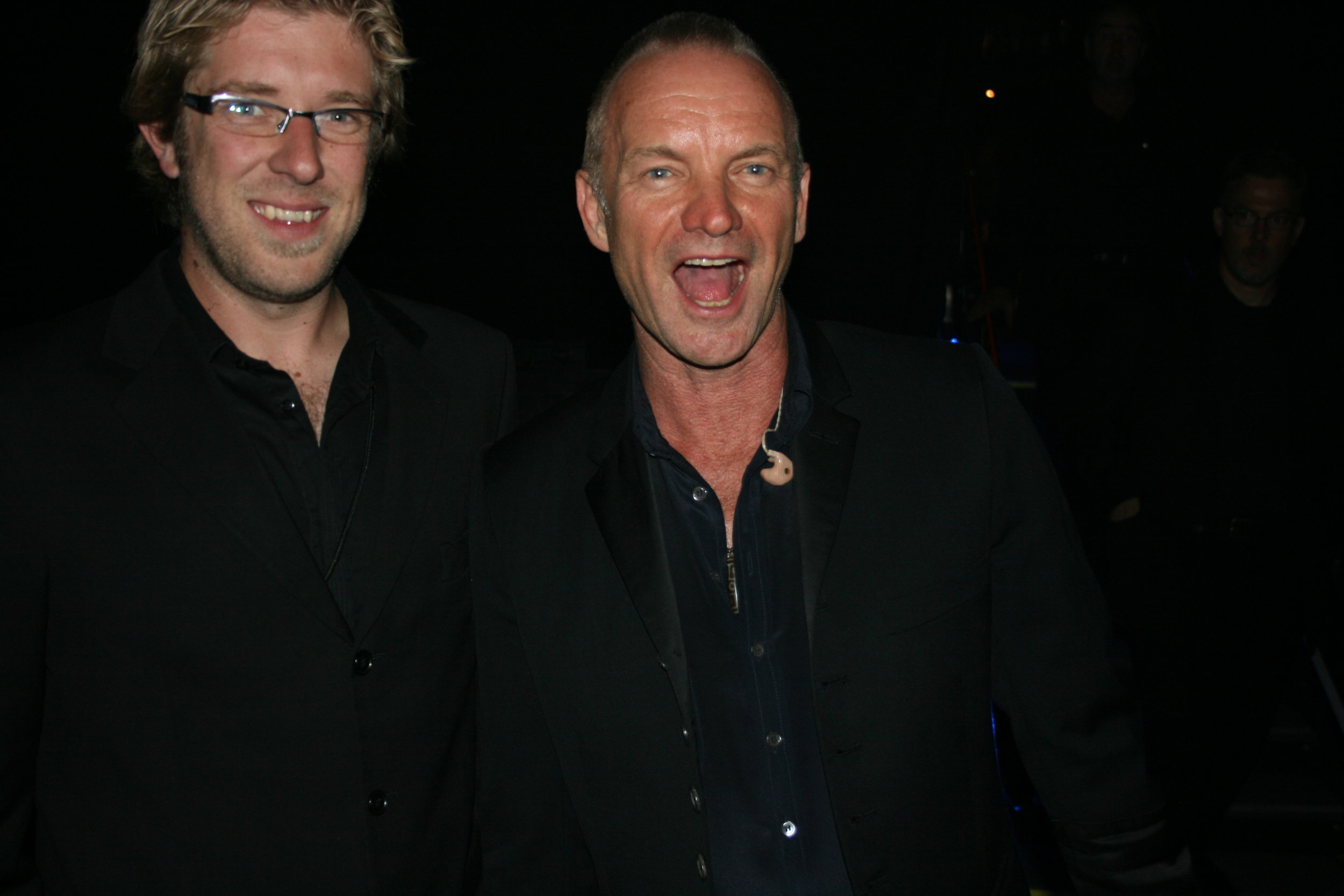 Me and Sting - I think I told him a joke...