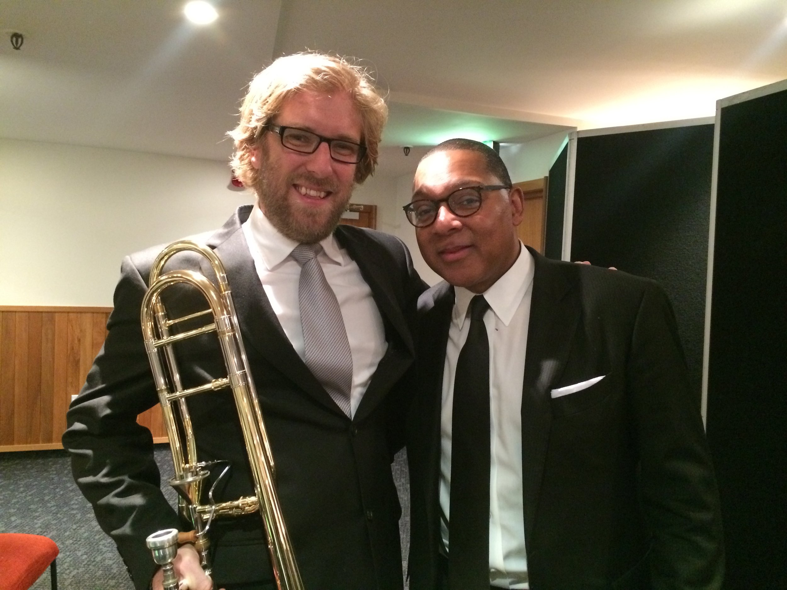 Chilling with Wynton - the most incredible brass player I have ever heard