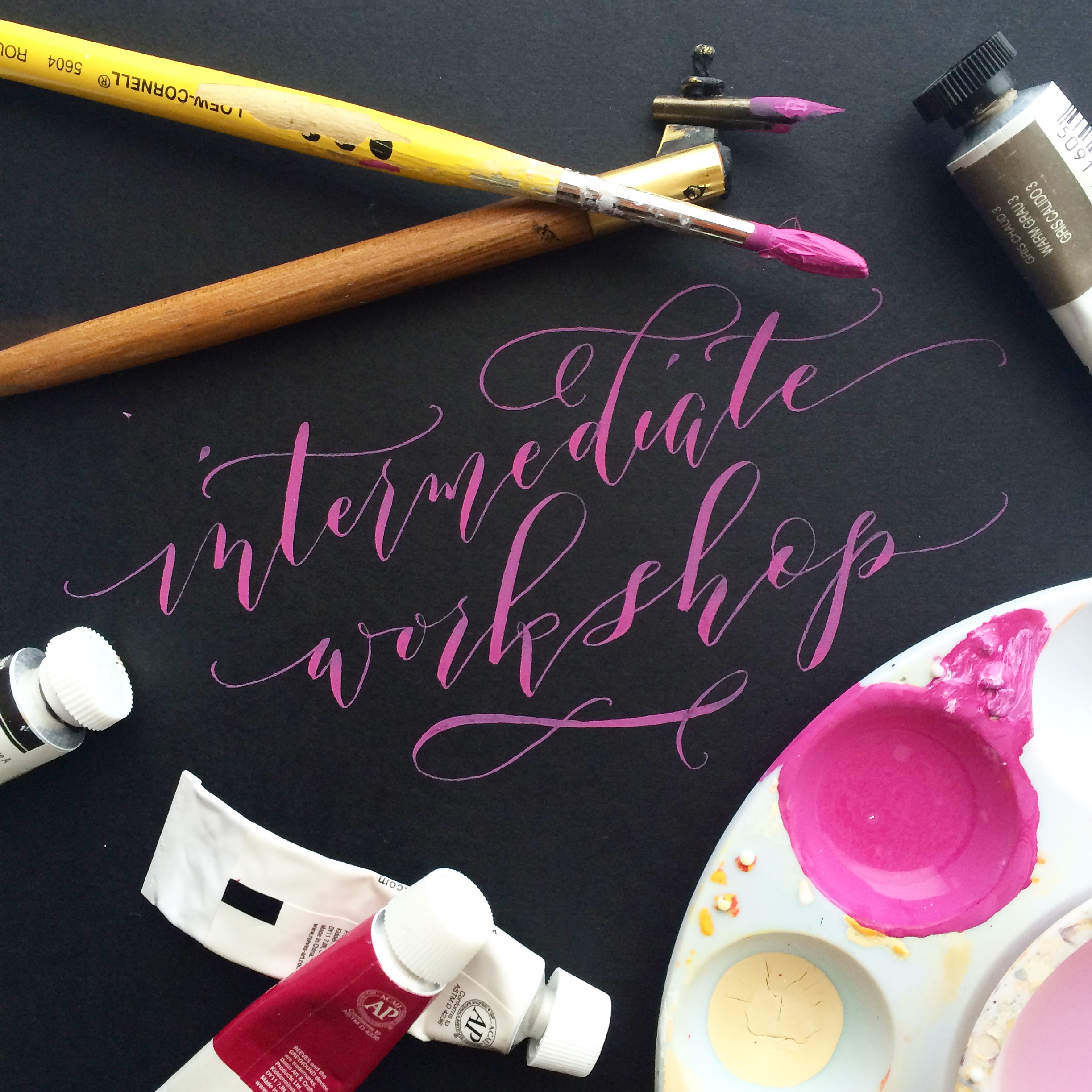 August 13:Intermediate Modern Calligraphy - WITH Angelique, Ink