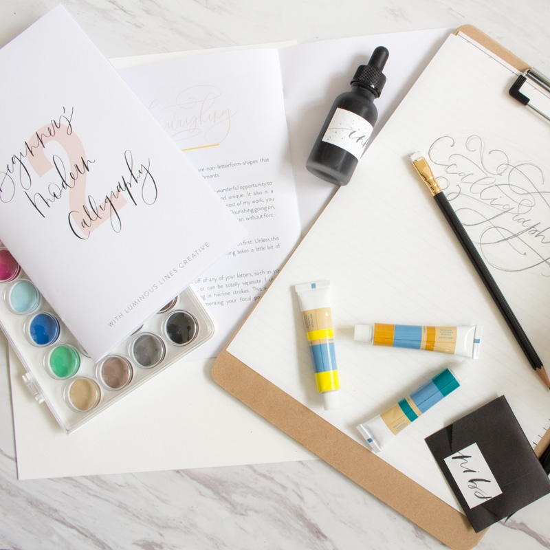 July 30:Modern Calligraphy II - WITH Luminous Lines