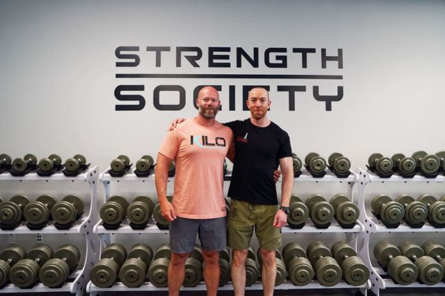 David flew in from Dublin, Ireland to complete a Private Mentorship with Stephane. He has now completed our Online Program Design Course, Hypertrophy Training Camp, Body Composition Training Camp and is now with us for the Applied Exercise Technique Seminar. We love when David is in town! So happy to have you in the Strength Society family 🙌