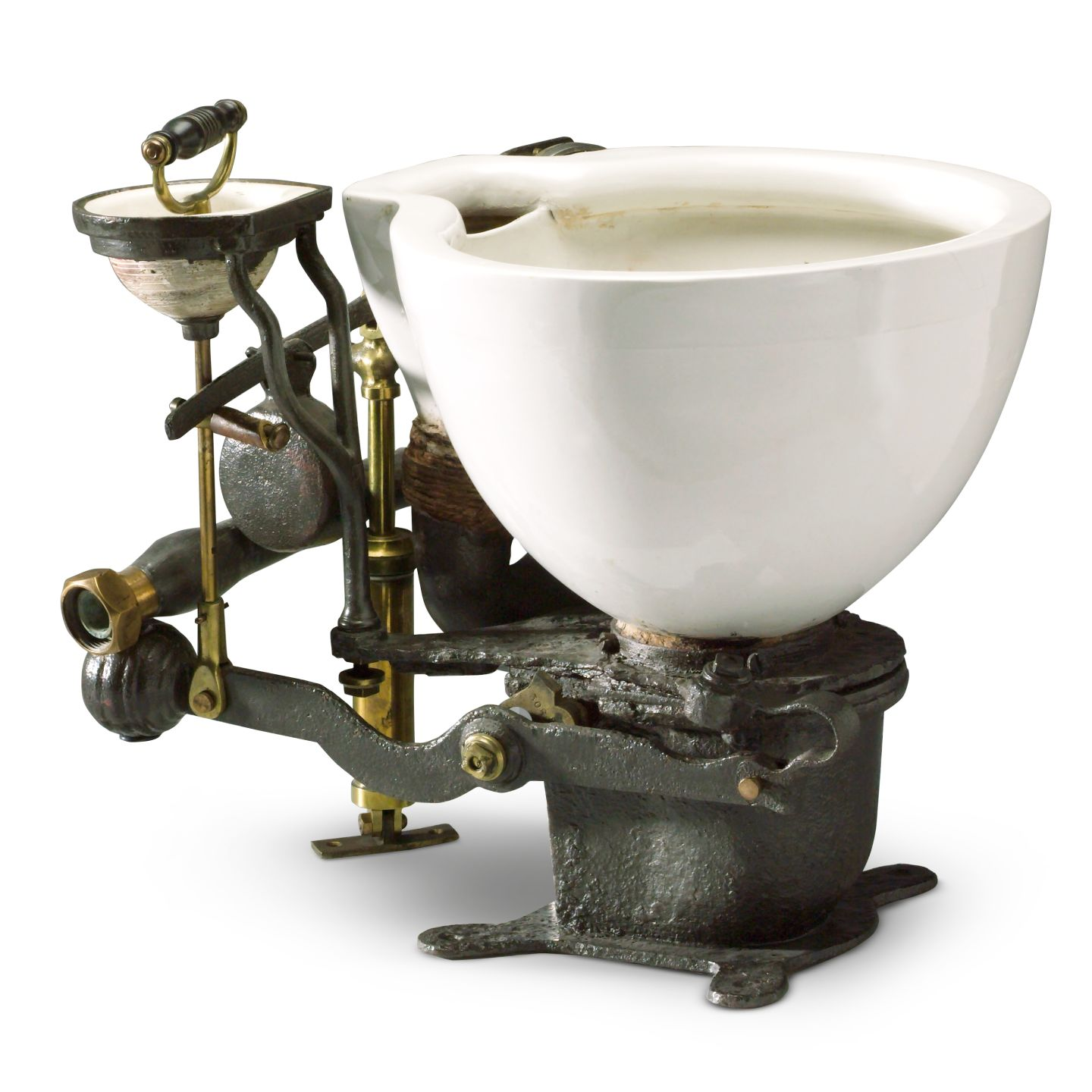 The Ajax - the first flushing toilet; invented by John Harrington.