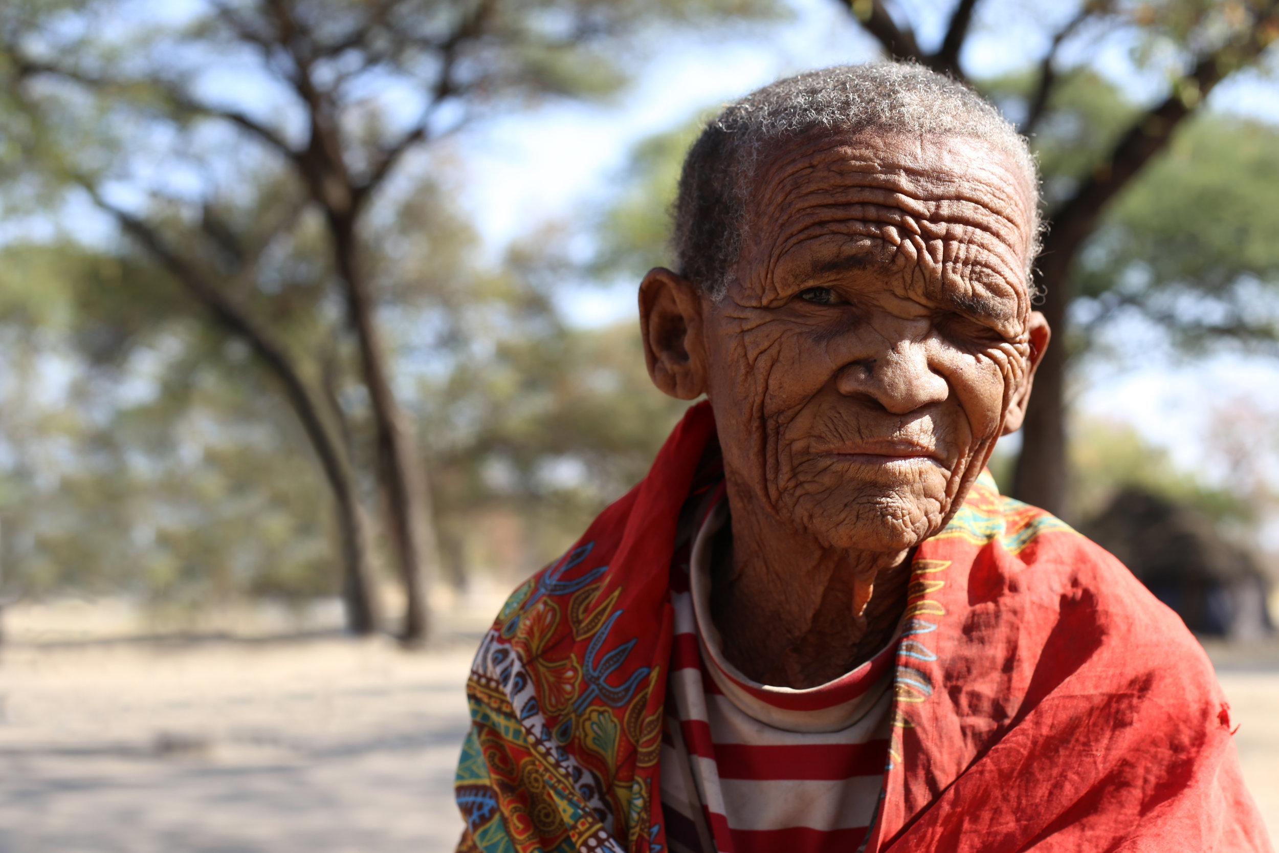 The oldest and founding member of the Ombili San Village. She is 80 years old.