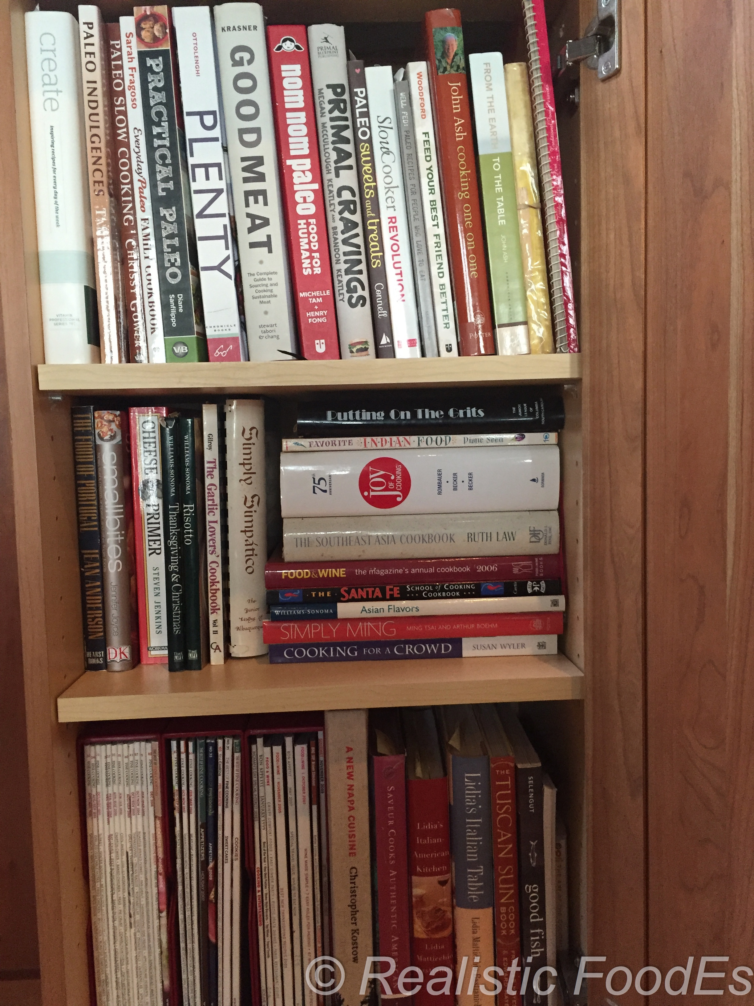 A sample of my cookbook collection. I have many more books and recipes!