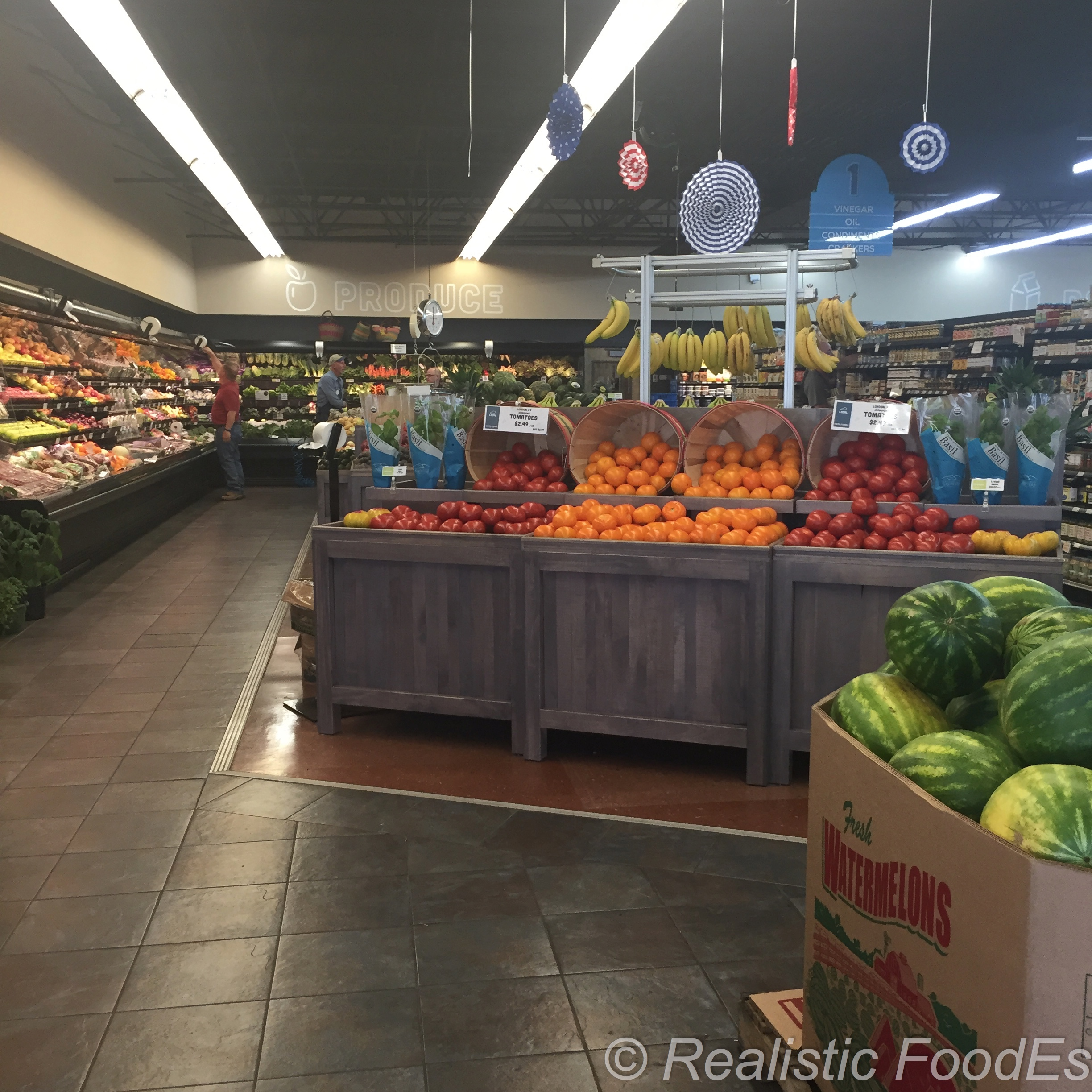 Shop along the perimeter first -- Start with produce.