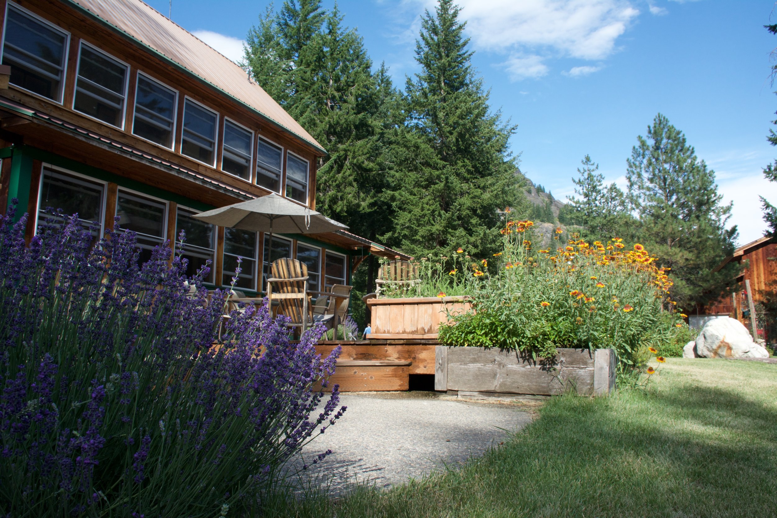 The main lodge & garden