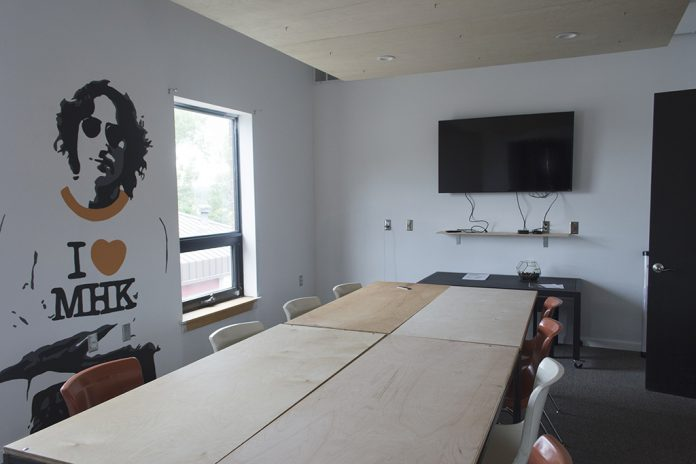 The Fellow provides spaces for their members to hold conferences and meetings for their business. There is 24/7 access for people with memberships and unlimited Arrow coffee. (Sarah Falcon | The Collegian)
