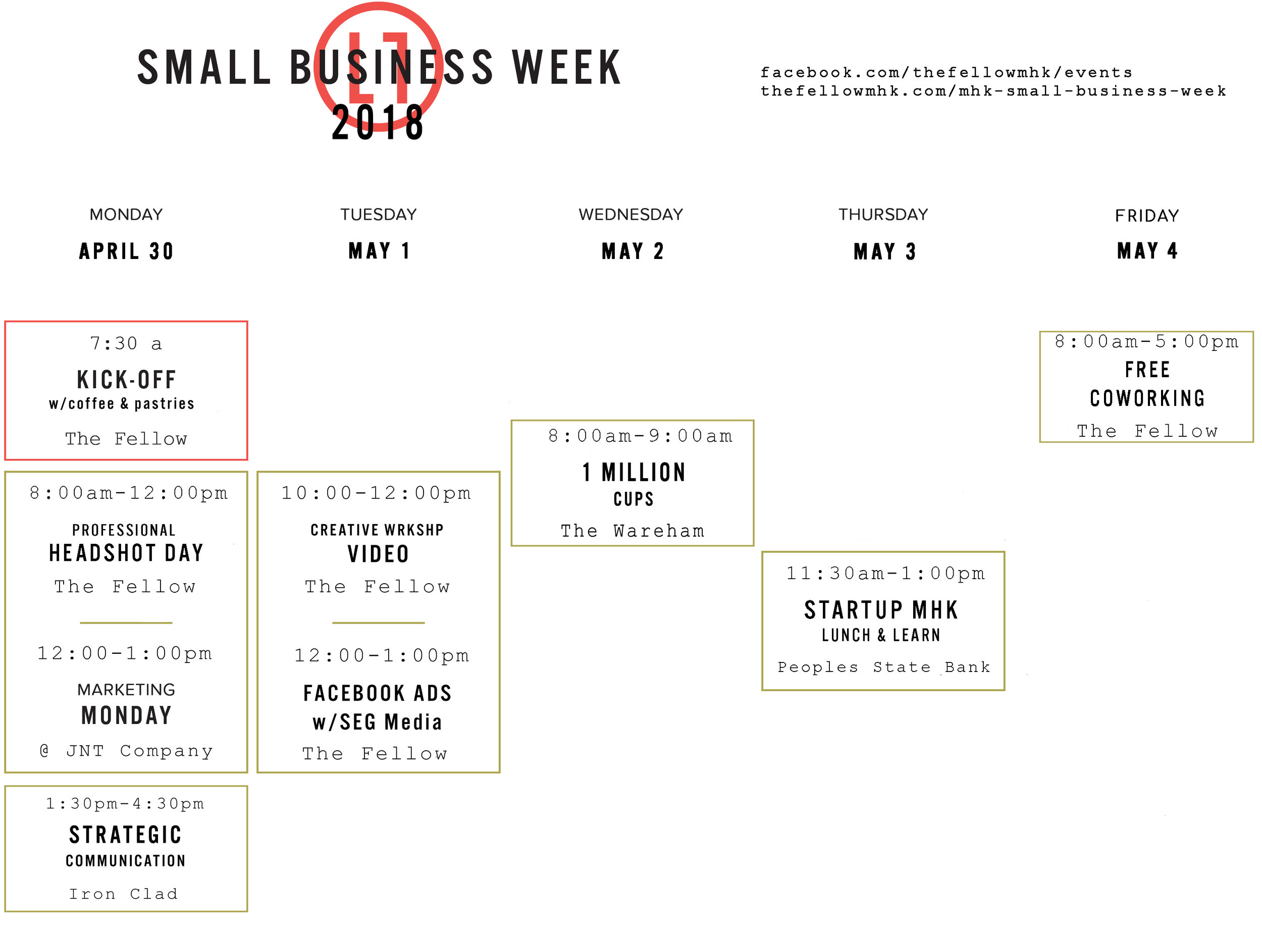 Small Business Week Calendar Manhattan Kansas The Fellow Coworking