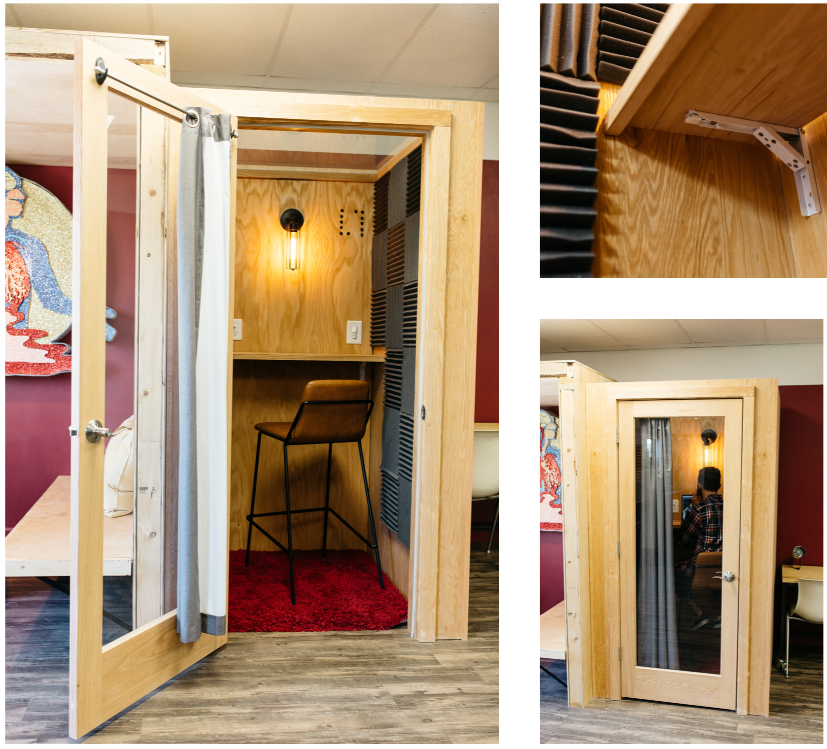 DIY phone booth build coworking space for sale blueprints plans open office