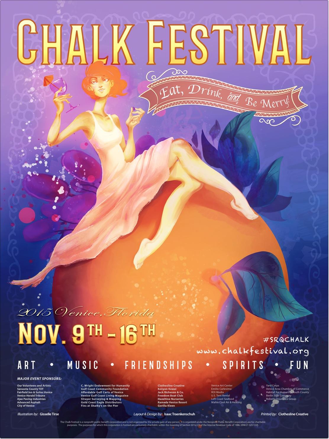 Sarasota Chalk Festival 2015 Art direction