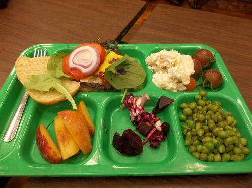 The colorful local school lunch.