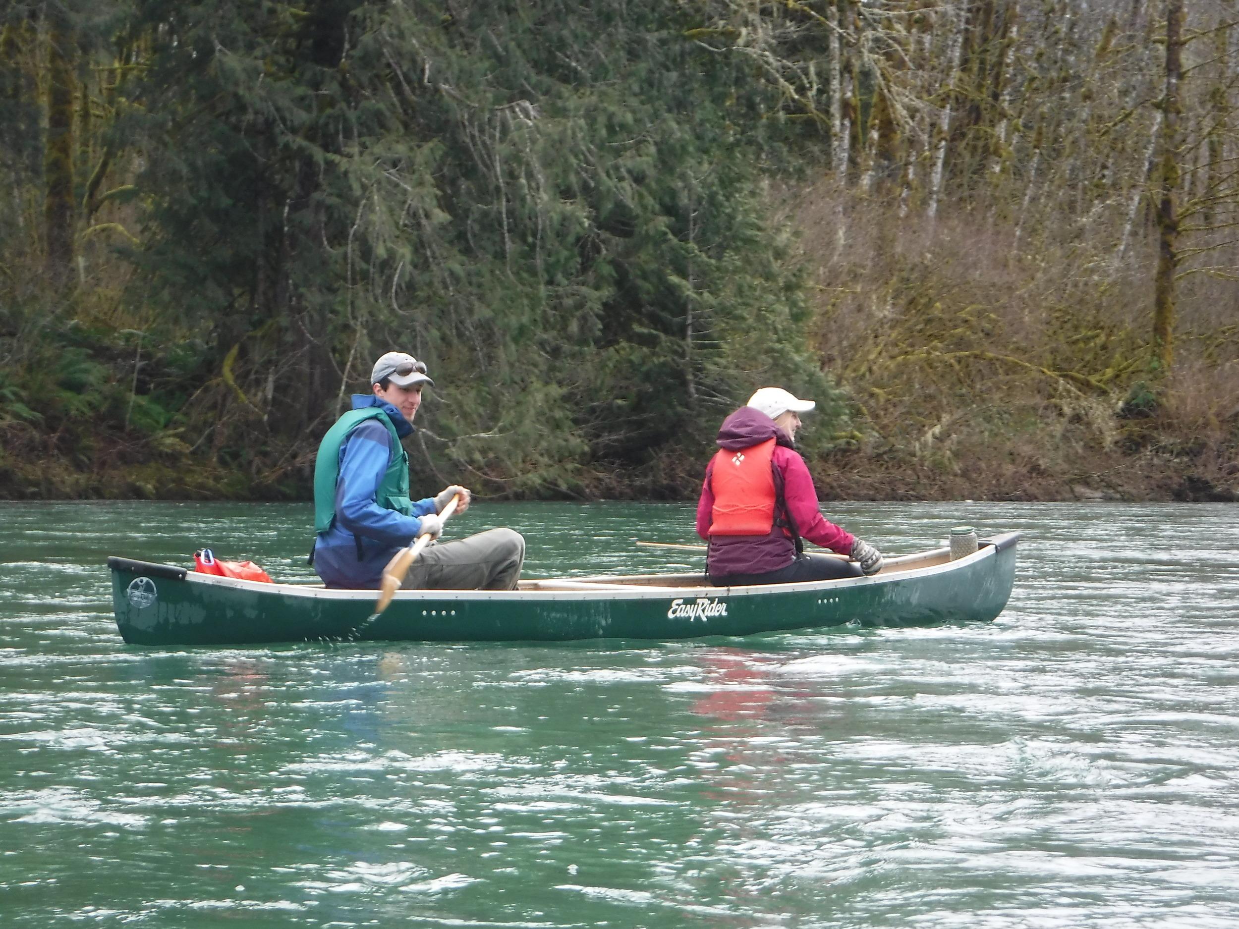 Joe and Katie leading our water caravan.