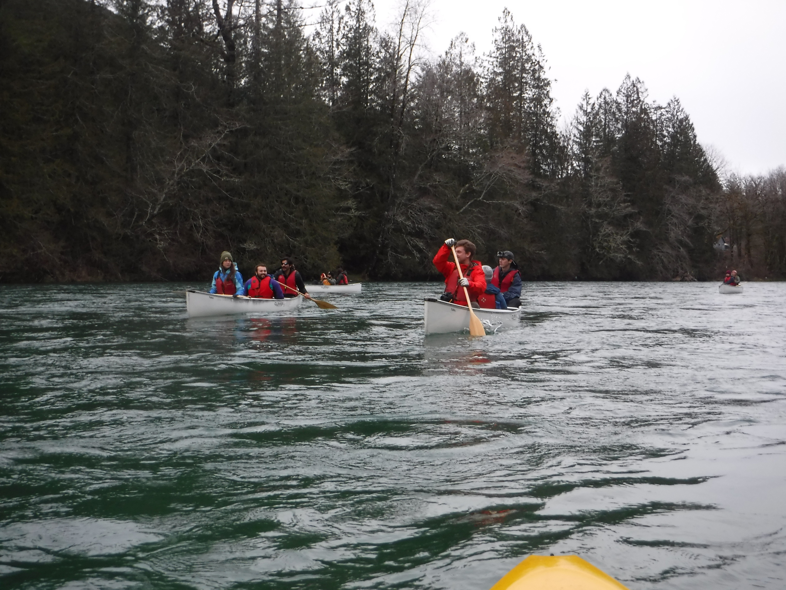 A few of the RMI students enjoying the float.