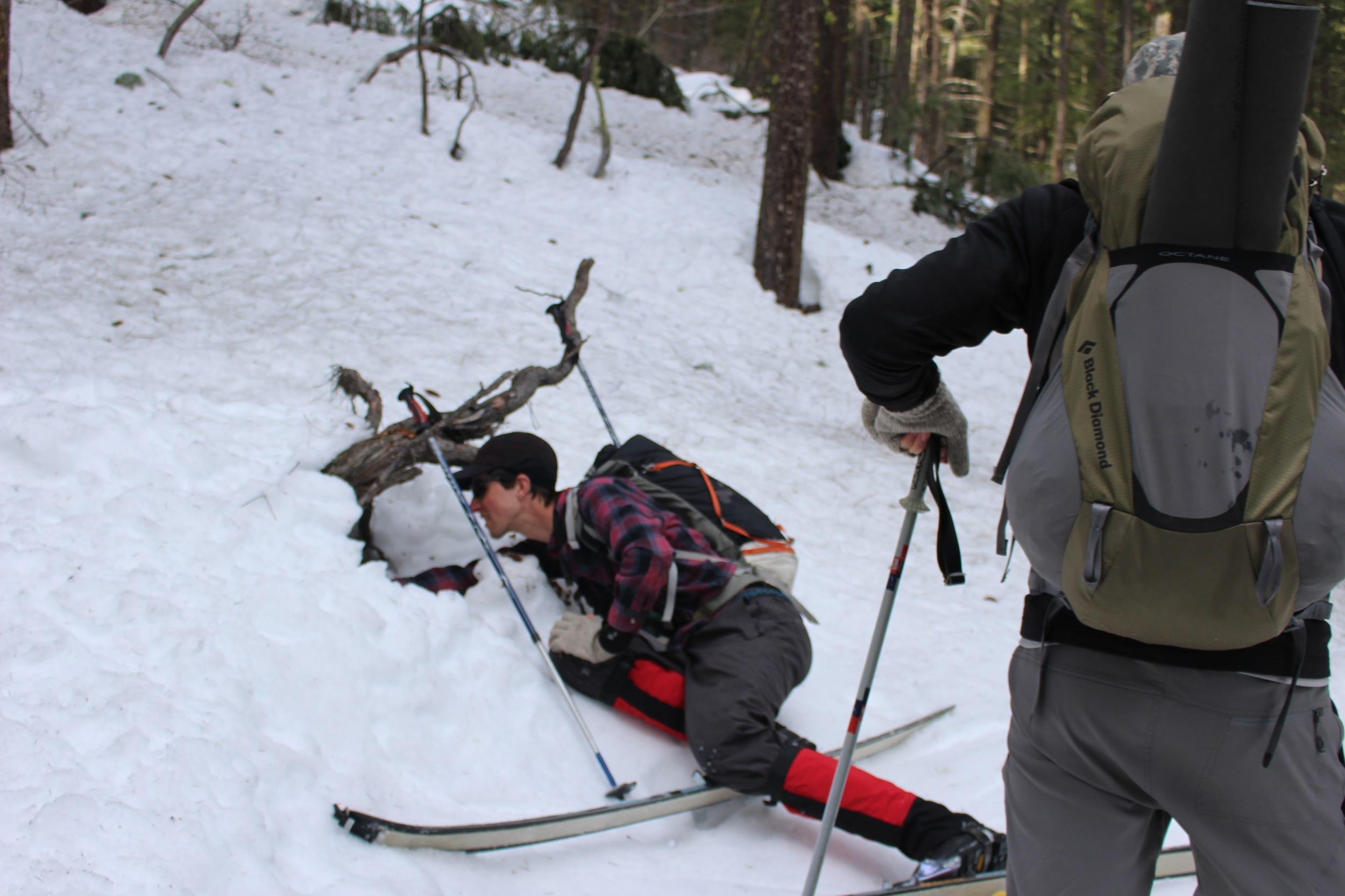 Joe Loviska getting deep in the tracking lesson. Photo courtesy of Aly Gourd.
