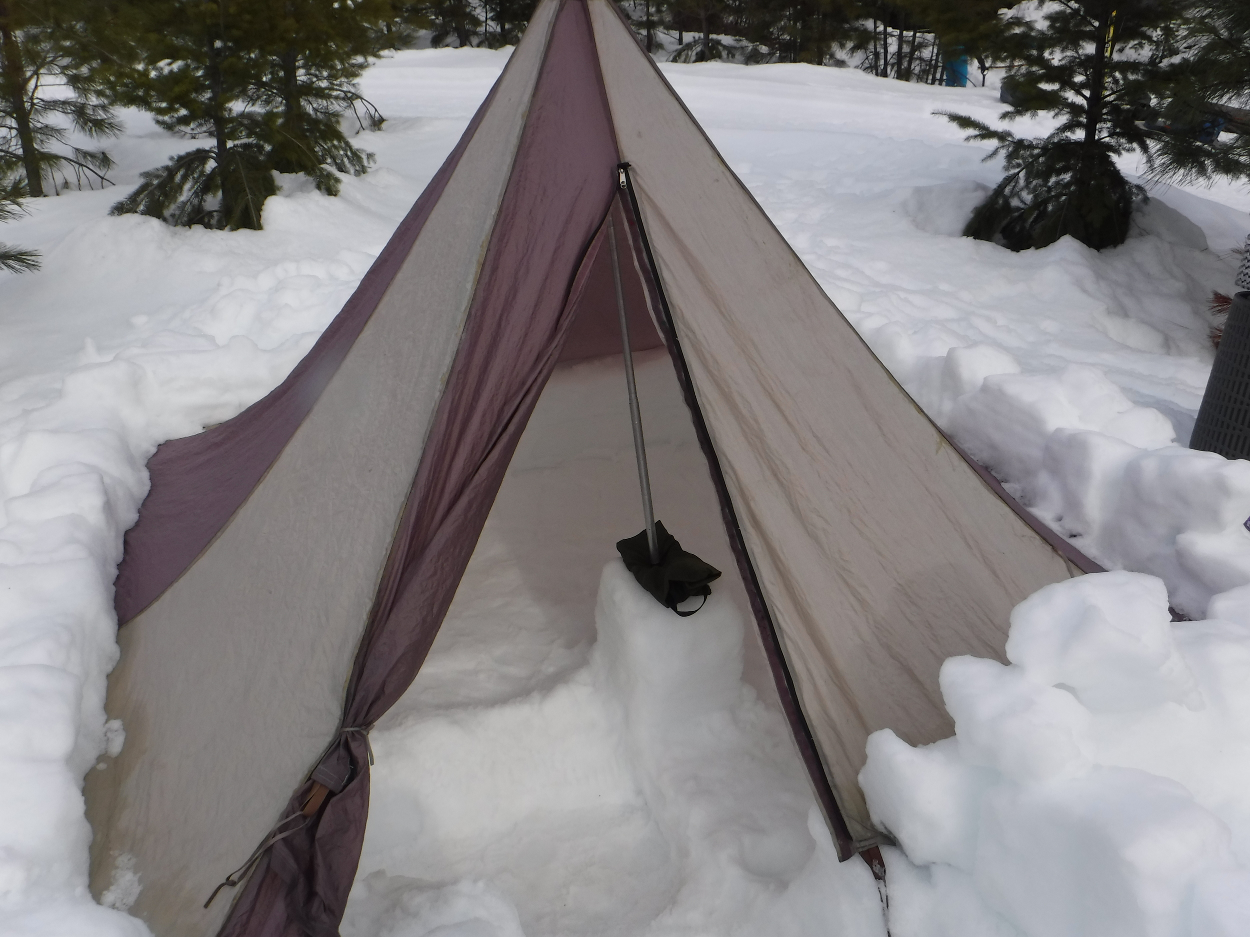 Snow tent. Room for three.