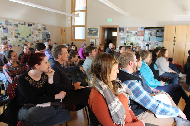 Families, staff and C15 gathered to hear each of the nine capstone presentations.