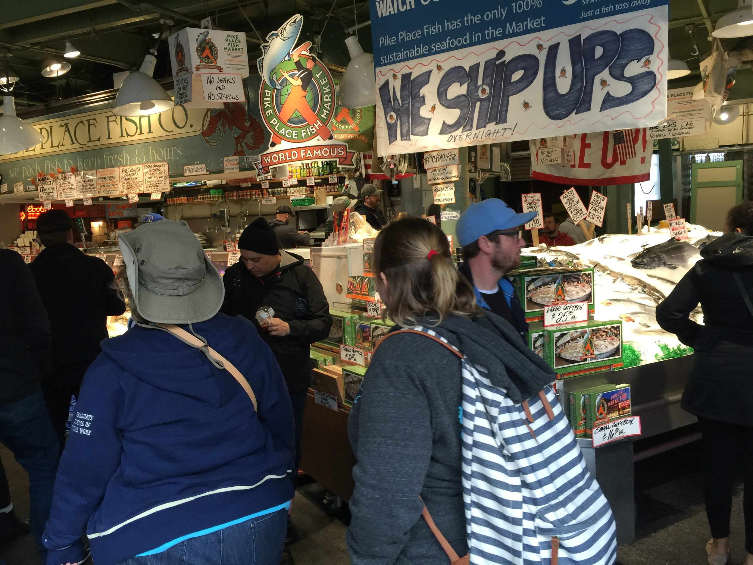 Traveling through Pike Place Market.