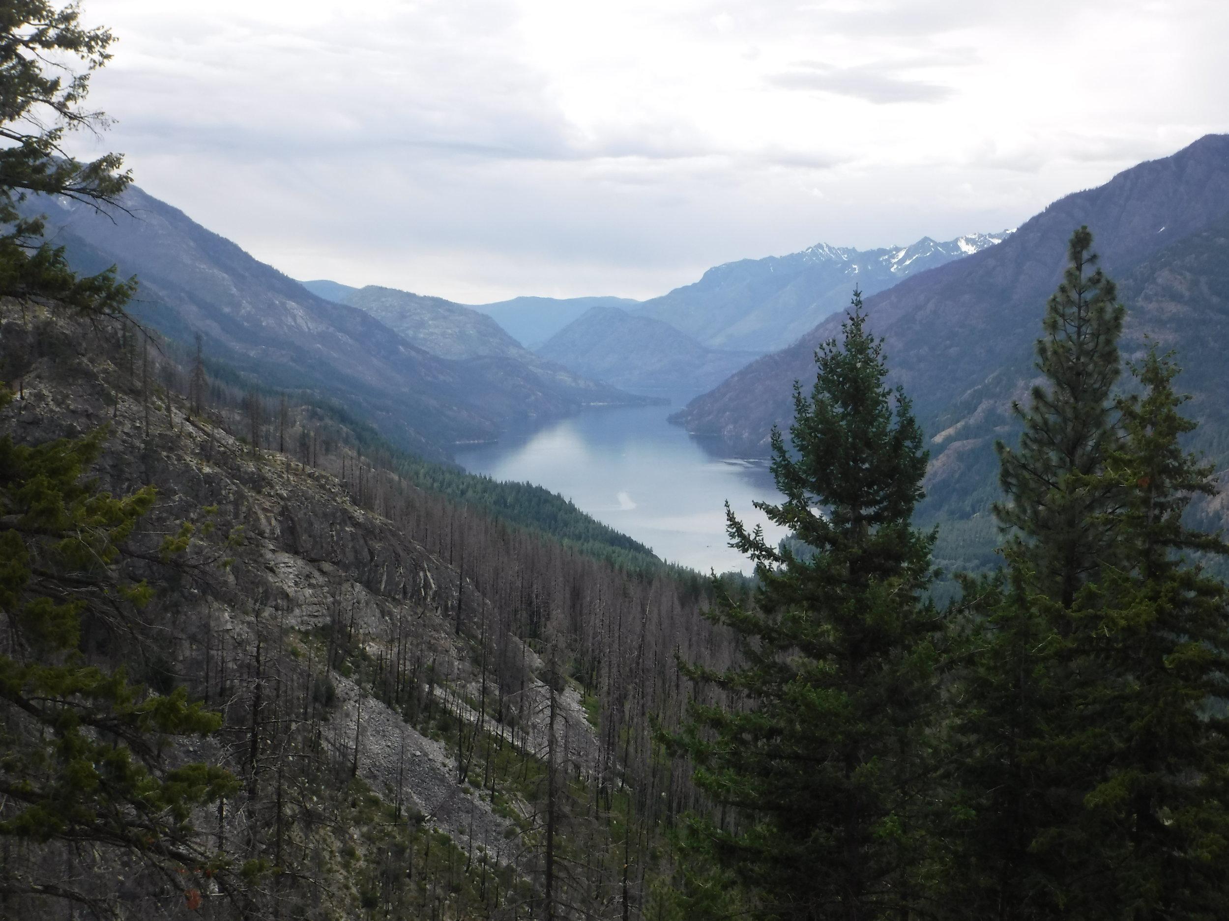 Northern end of Lake Chelan. Taken from Rainbow Loop Trail.