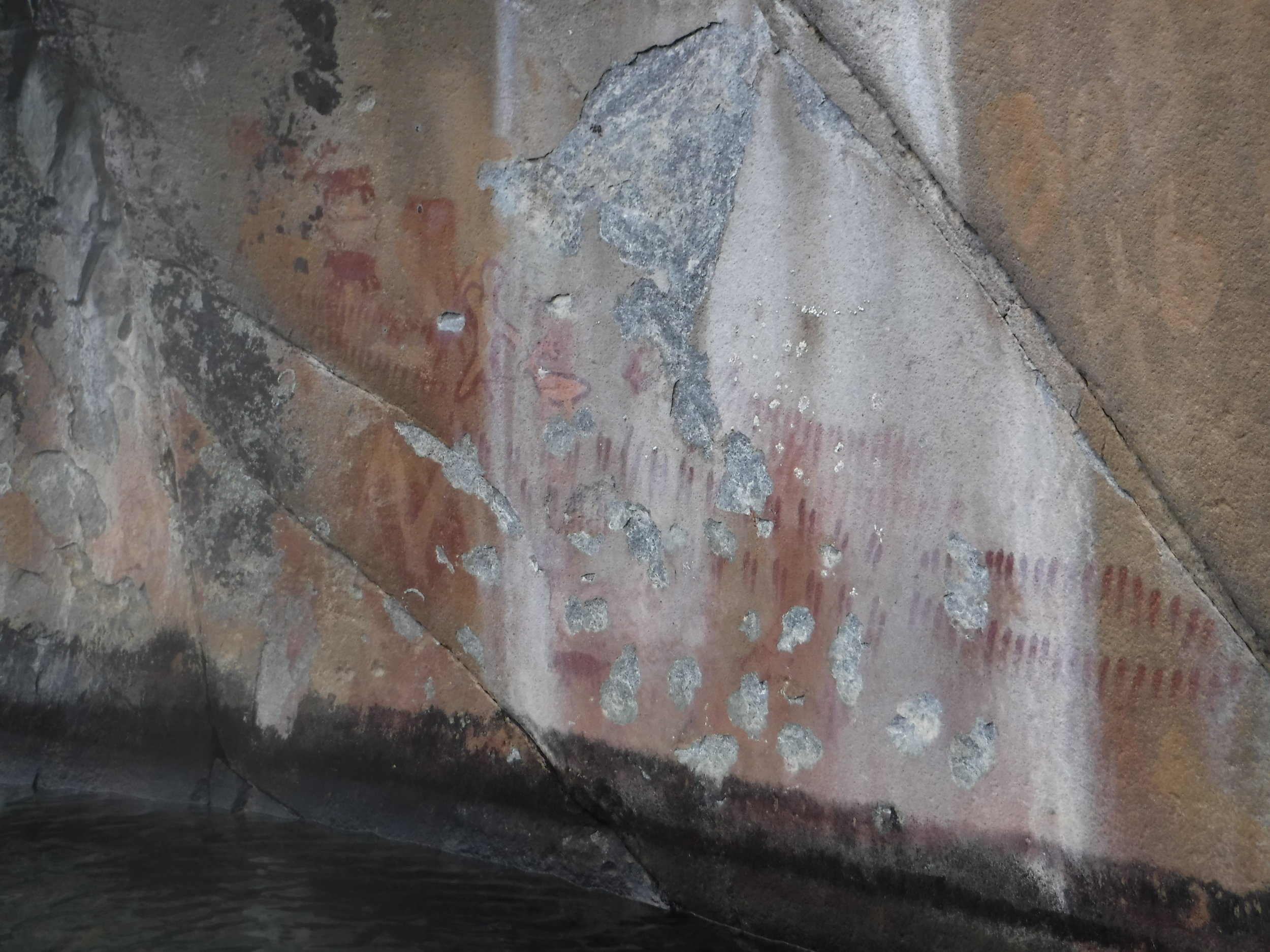 Pictographs at the northern end of Lake Chelan