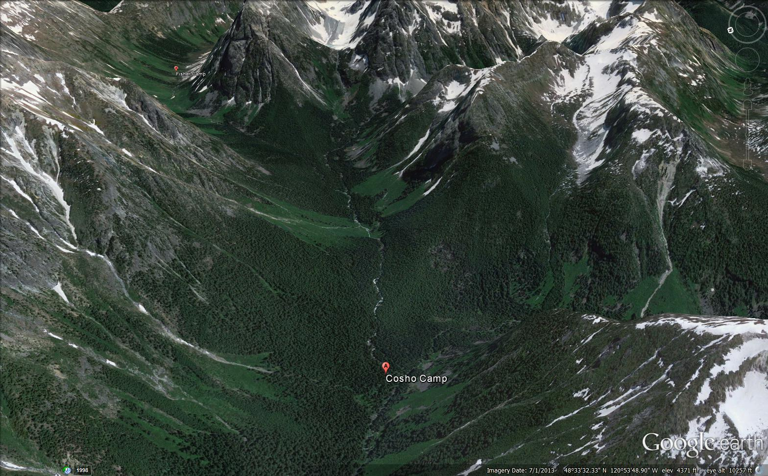 Fisher Camp is in the upper left