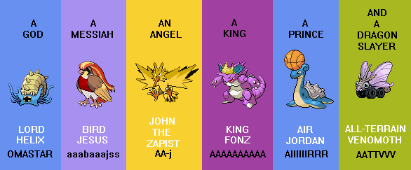 The final team of TPP. Picture fantastically created by  GlintSM on Deviantart.