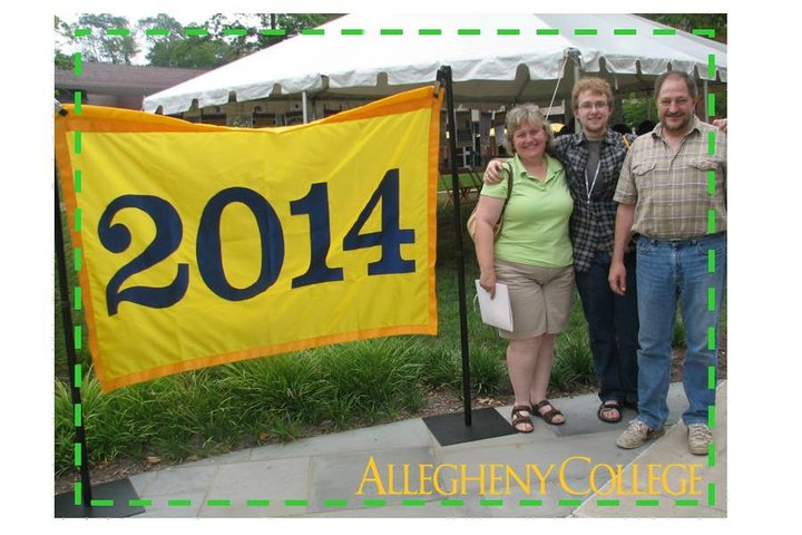 My parents and I during my freshman orientation at Allegheny College.