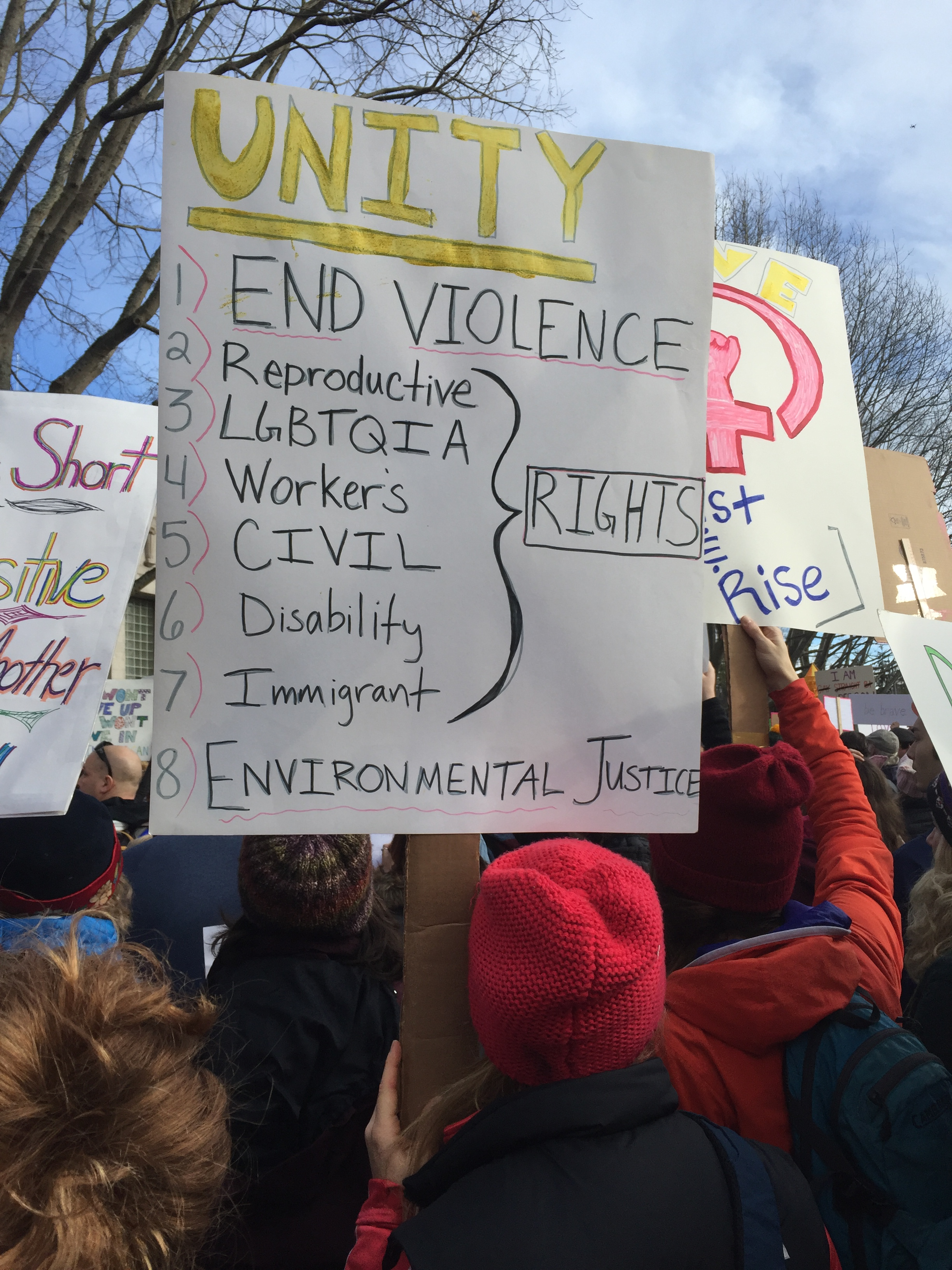 Emily Ford, Womxn's March Bellingham