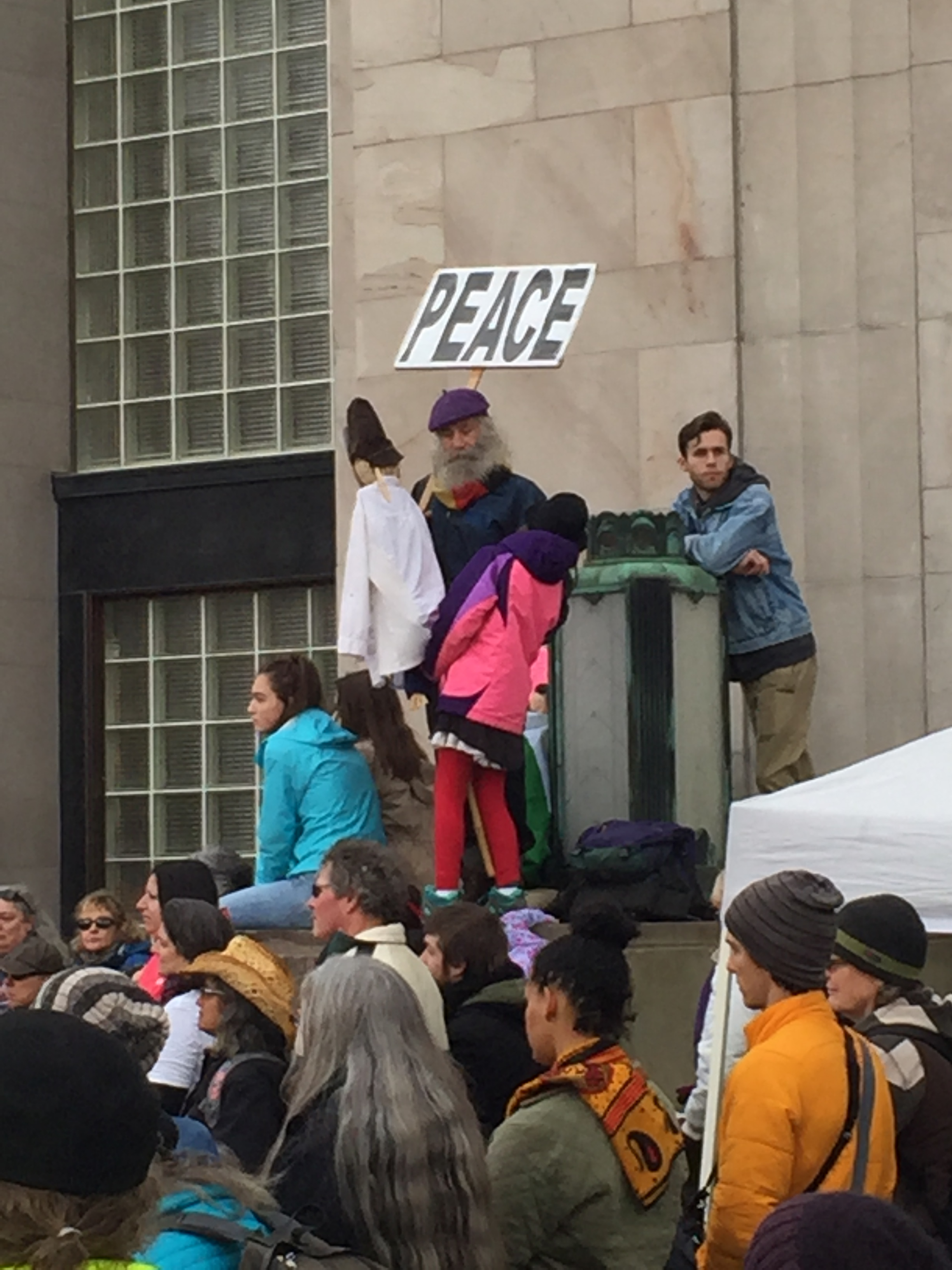 The great Peace Wizard among others at the march.