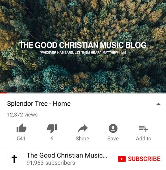 @thegoodchristianmusicblog showed us some love again and posted our song Home to their page🙏Many thanks to them👌