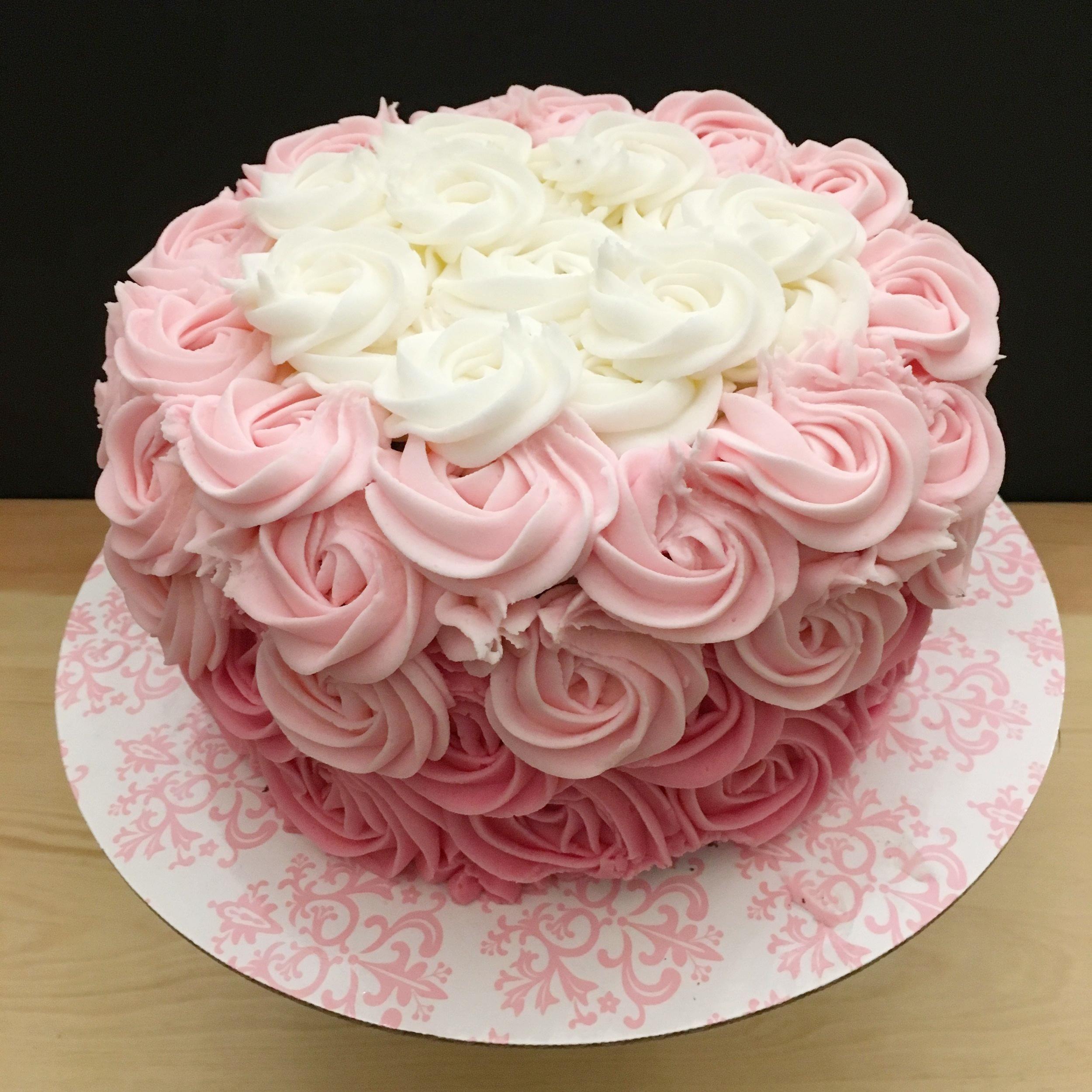 PInk Rosette Cake.JP
