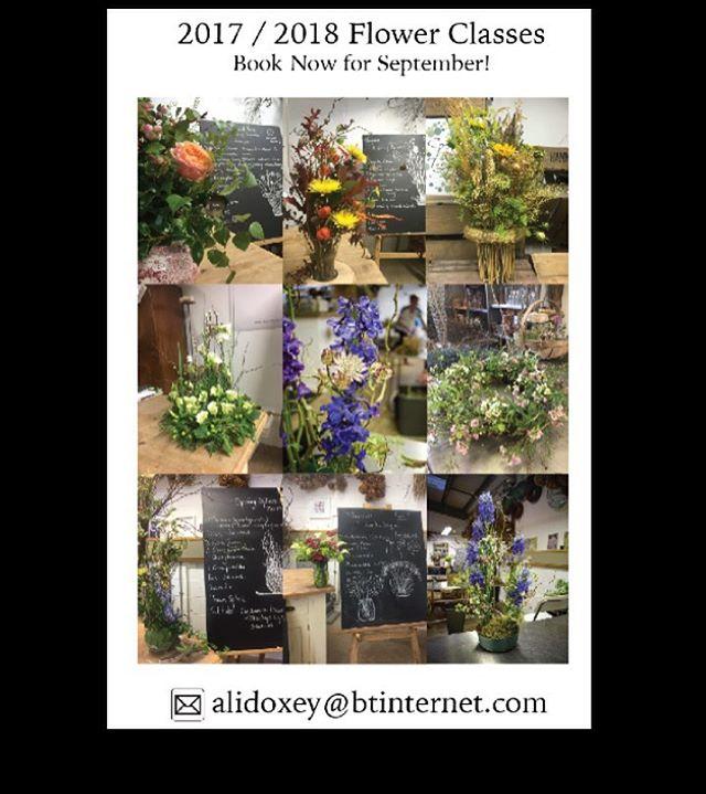 Taking bookings for flower classes starting in September. Email me on alidoxey@btinternet.com #flowers #harleystudiogroup #welbeckestate #harleygallery #harleygallerywelbeck