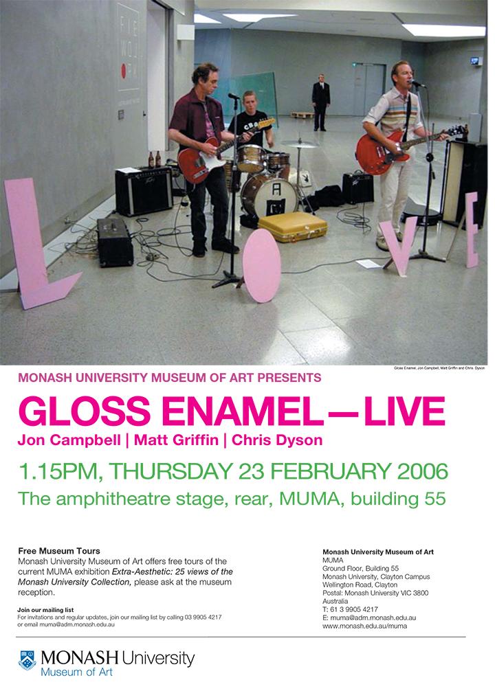 Gloss Enamel, band flyer