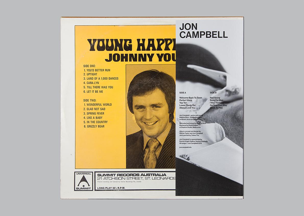 Jon Campbell, Self Titled LP cover, back