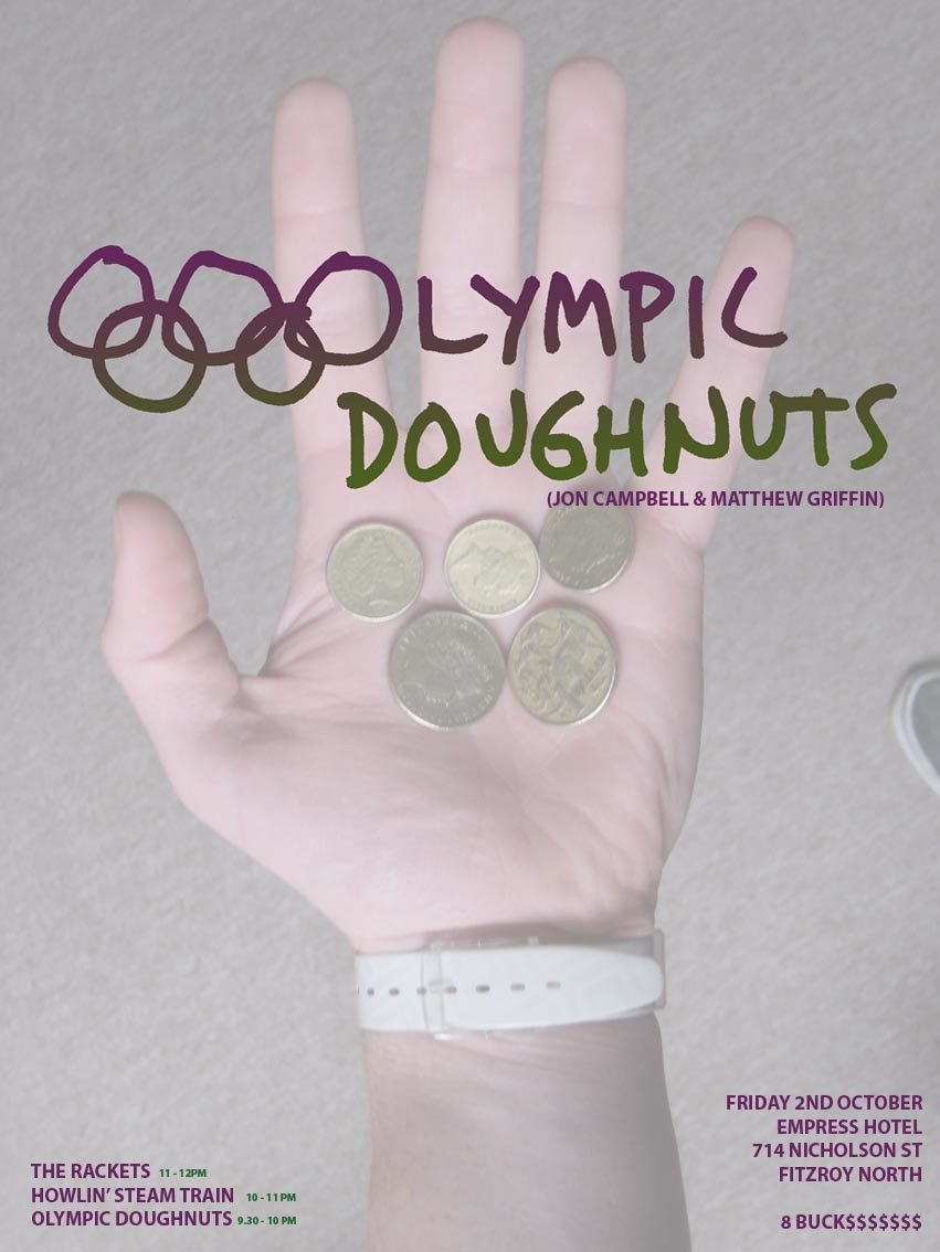 Olympic Doughnuts, band flyer