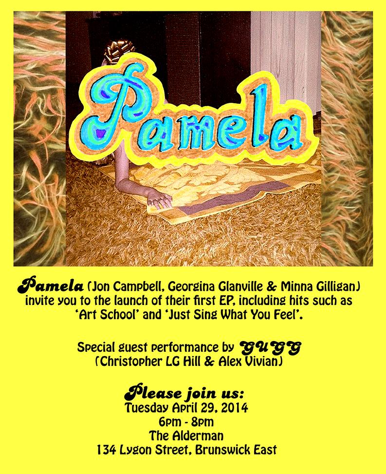 PAMELA , EP launch flyer