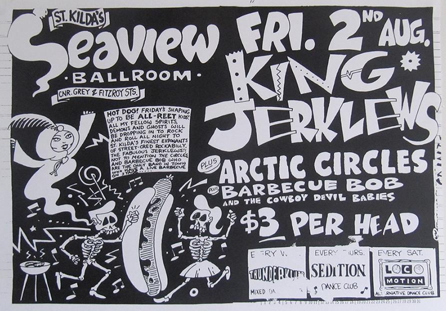 King Jerklews, band flyer