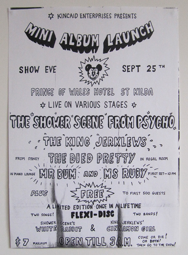 The Shower Scene From Psycho, band flyer